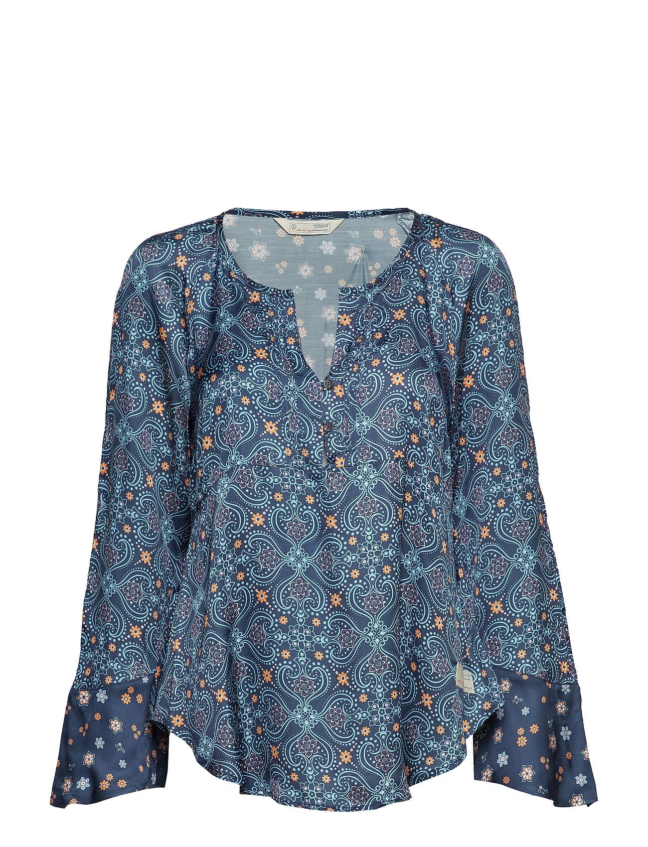 ODD MOLLY unsilent night blouse - TRUE BLUE