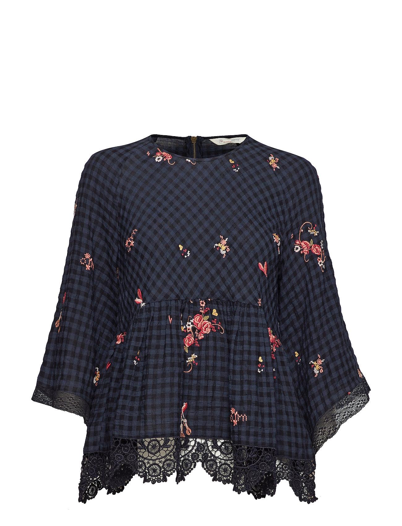 ODD MOLLY emb sapcerosas blouse roundnec Ögrönlar
