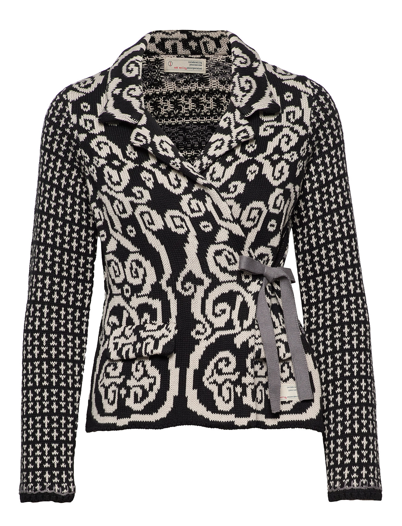 ODD MOLLY Knitted Love Cardigan - ALMOST BLACK
