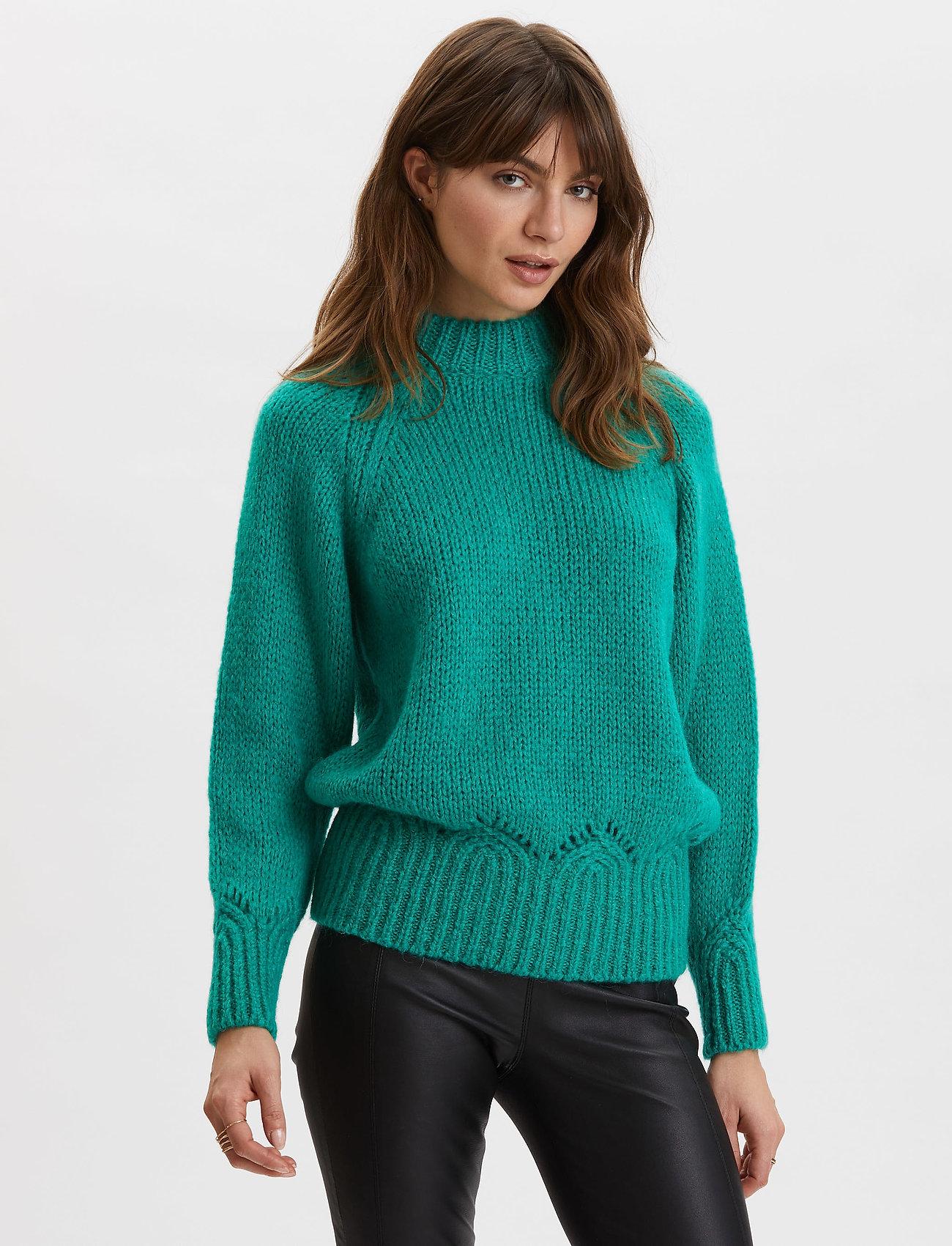 ODD MOLLY - Novelty Sweater - turtlenecks - bright emerald - 0