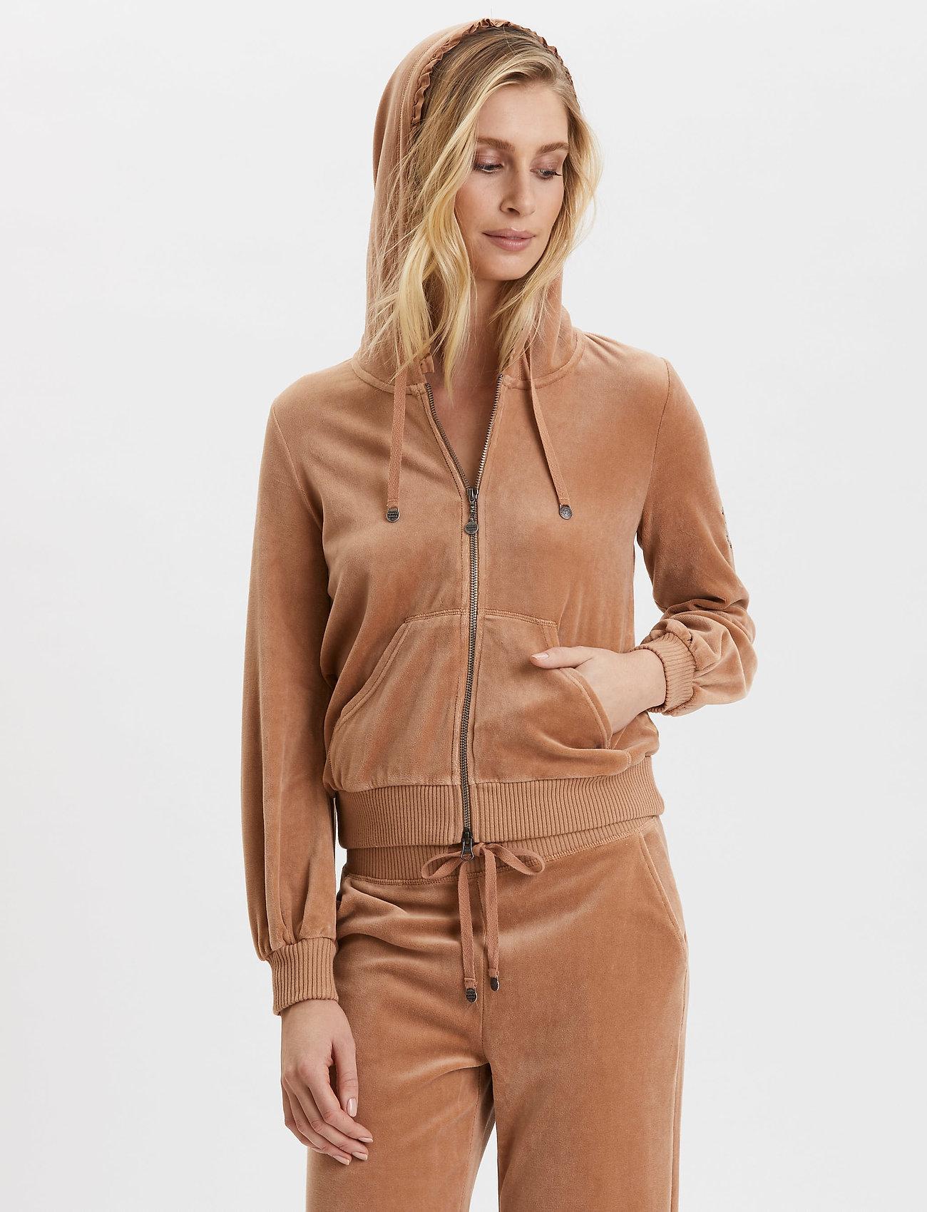 ODD MOLLY - Velouragenius Hood Jacket - pulls à capuche - chocolate cream - 0
