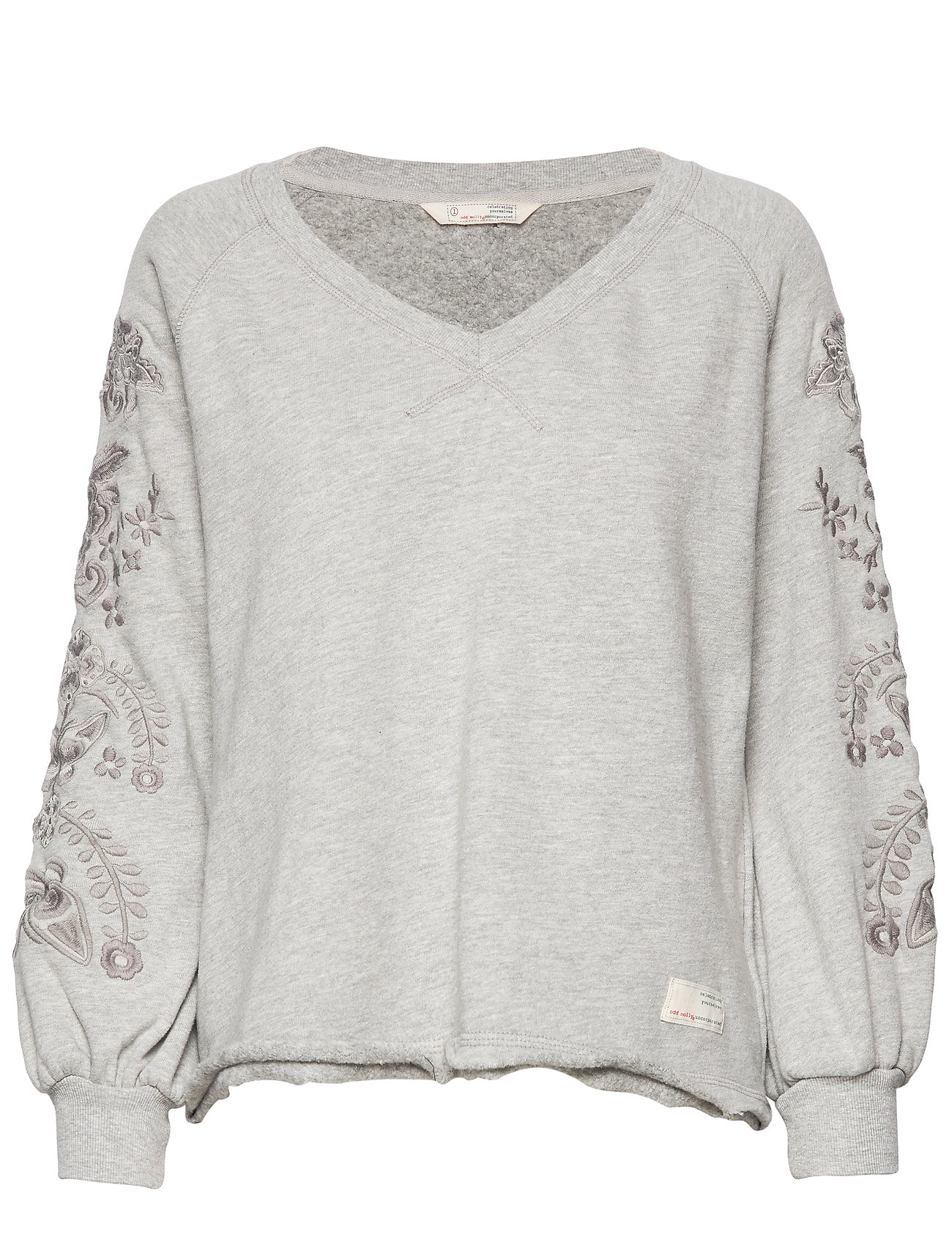 ODD MOLLY Sunday Snooze Sweater - LIGHT GREY MELANGE