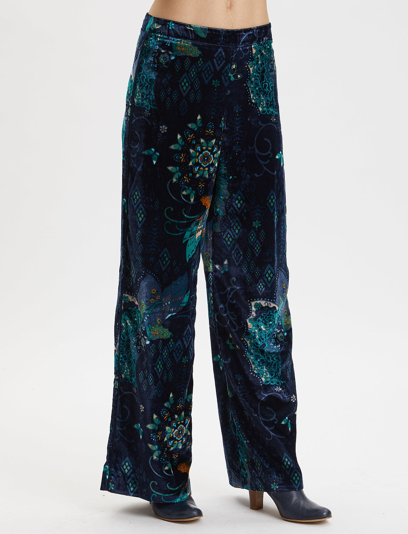 ODD MOLLY - Cherry Bomb Pant - pantalons larges - night sky blue - 0