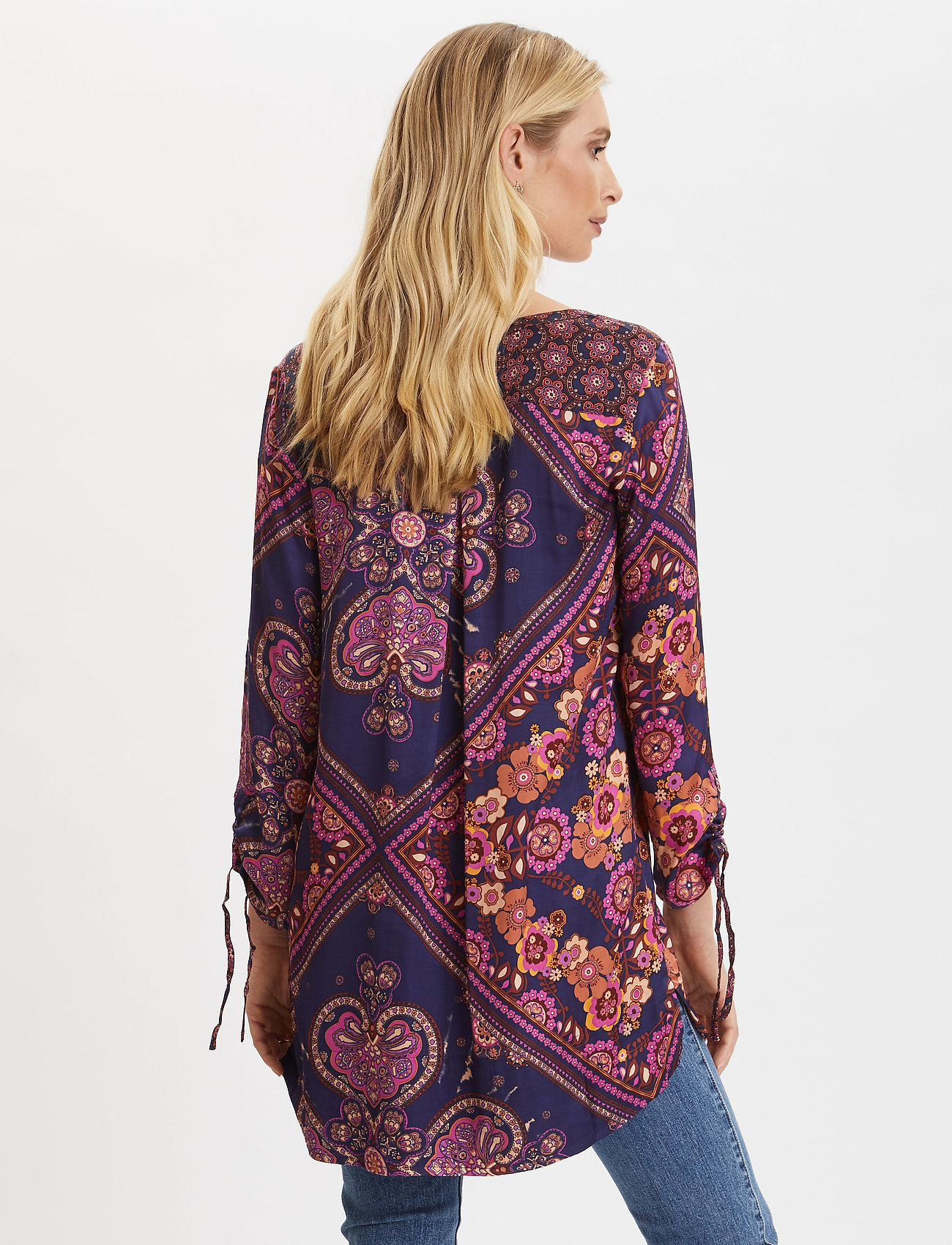 ODD MOLLY Insanely Right Tunic - Blouses & Shirts FIREWORK FUCHSIA