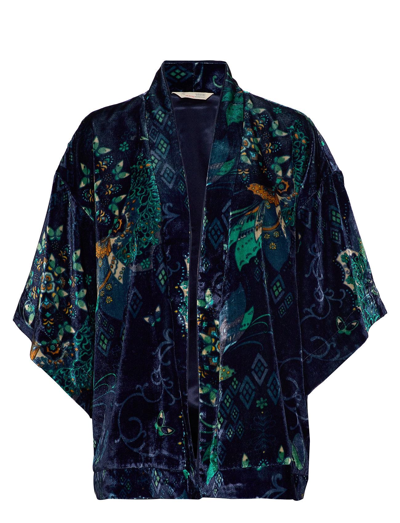 ODD MOLLY Cherry Bomb Kimono - NIGHT SKY BLUE