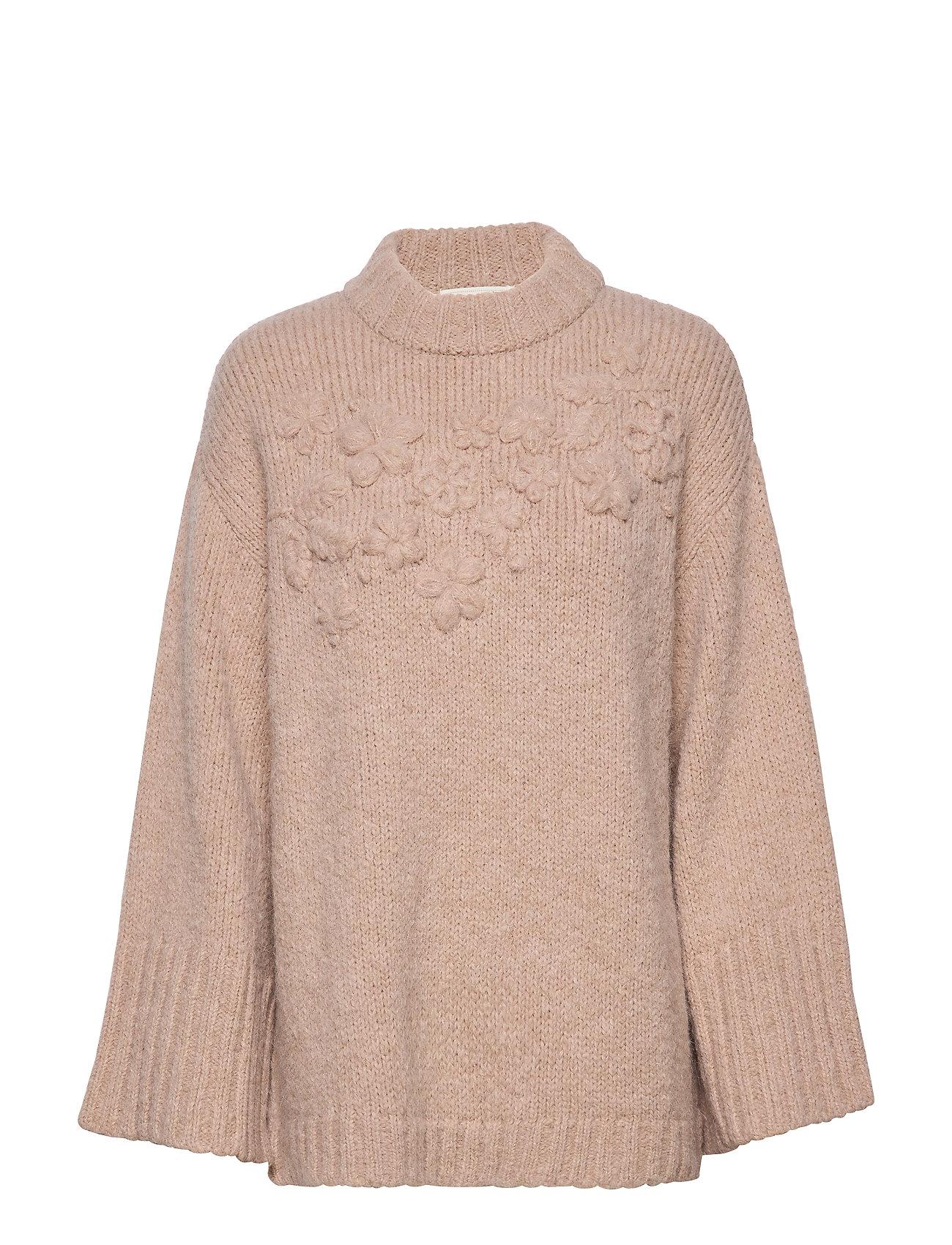 ODD MOLLY Life Coordinator Sweater - LIGHT TAUPE