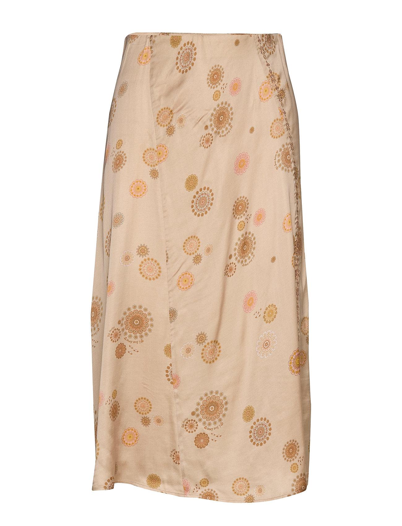 ODD MOLLY Praise This Skirt - LIGHT TAUPE
