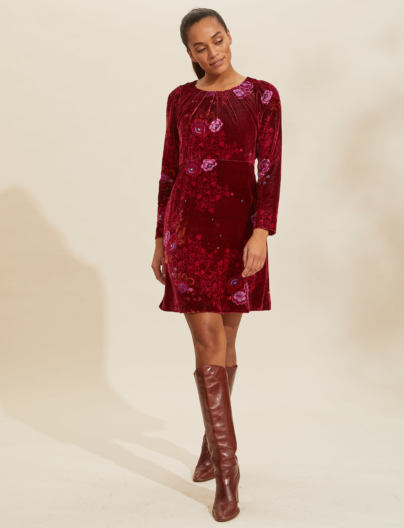 ODD MOLLY - Vera Dress - hverdagskjoler - vivid red - 0