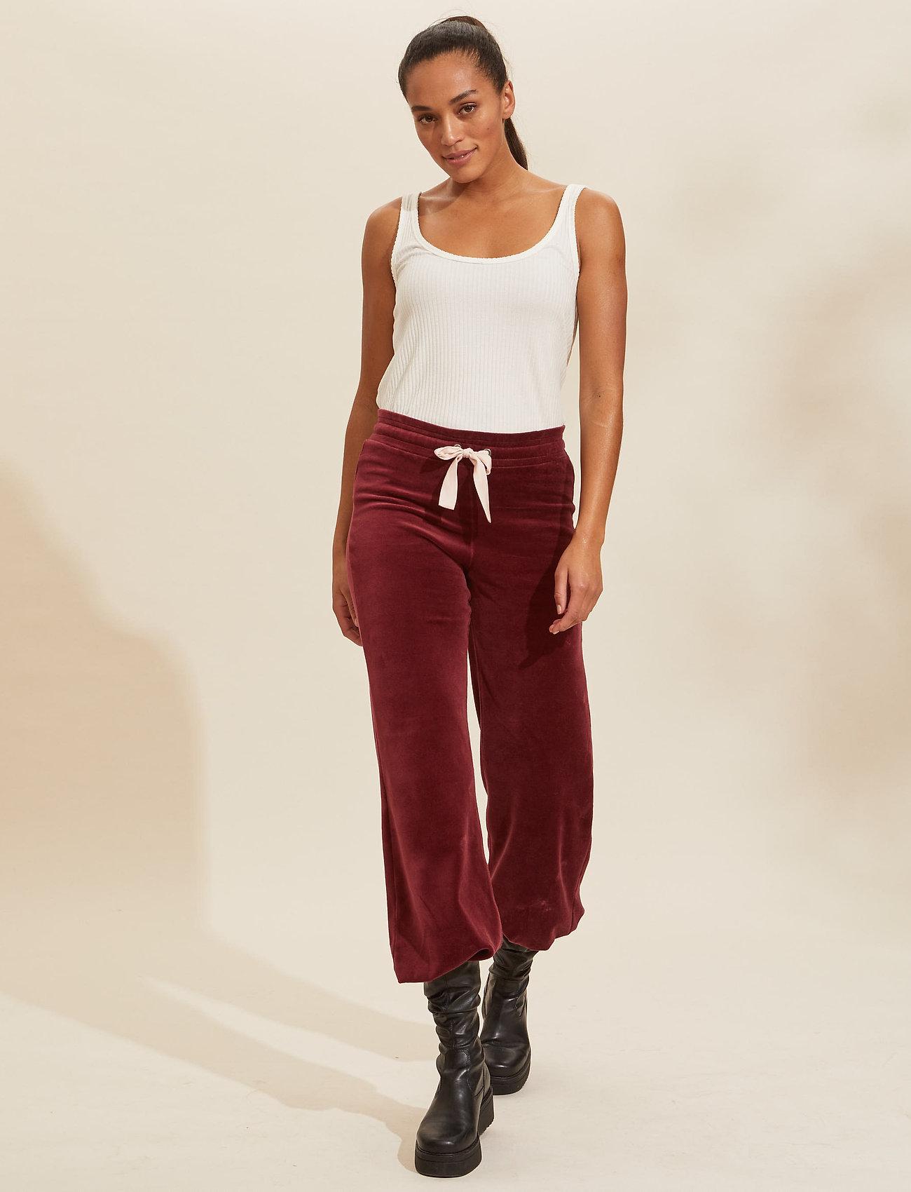 ODD MOLLY - Marion Pants - sweatpants - baked burgundy - 0