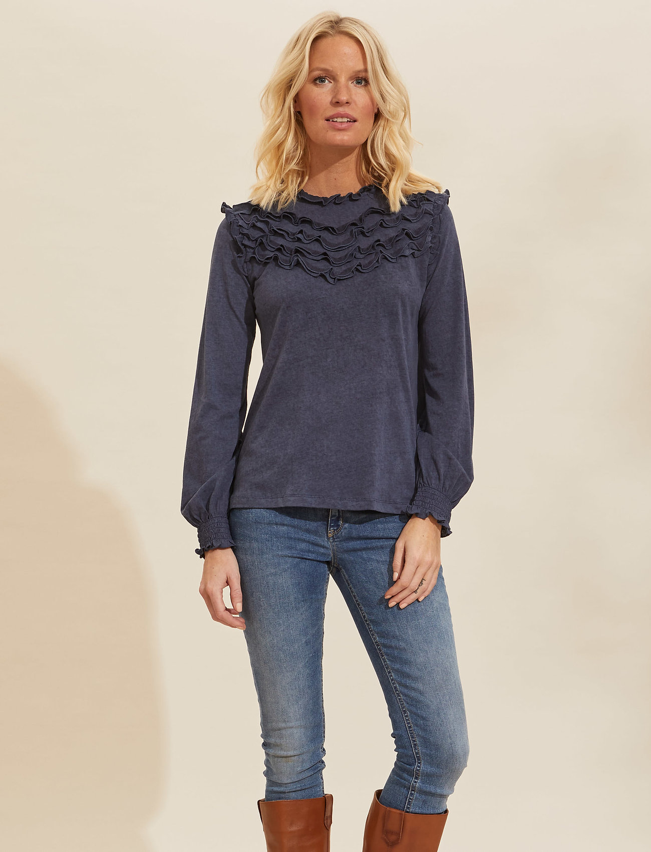 ODD MOLLY - Malou Top - langærmede bluser - dark blue - 0