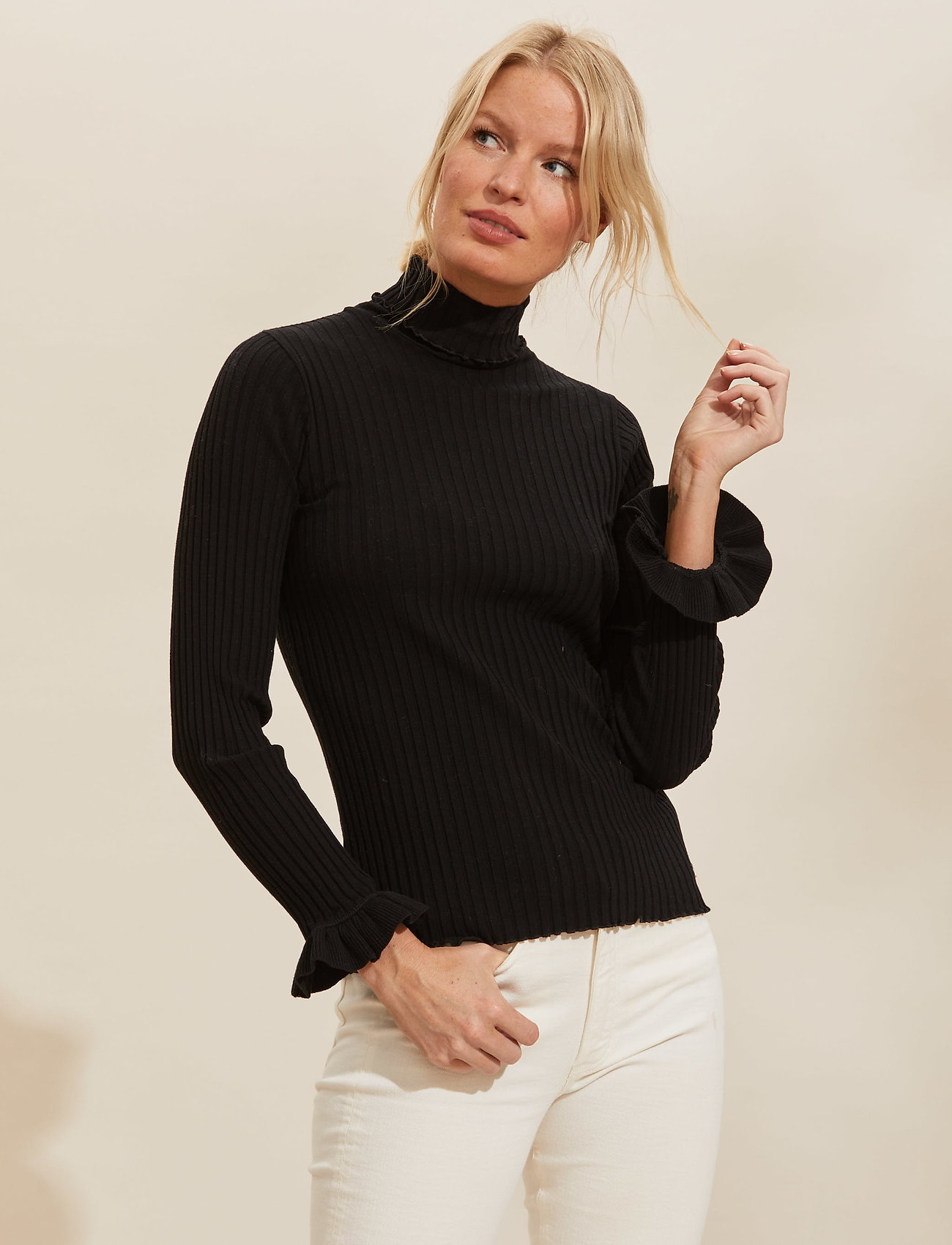 ODD MOLLY - Liza Turtle L/S Top - rullekraver - almost black - 0