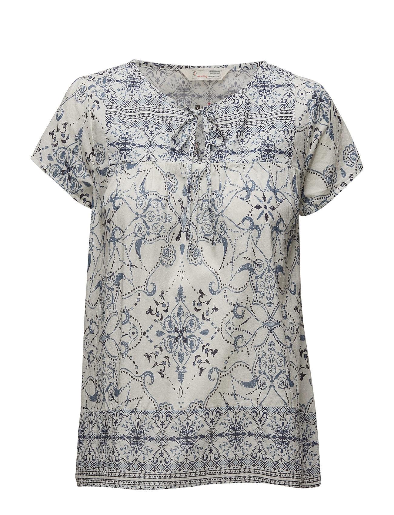 ODD MOLLY backbone blouse - MID BLUE