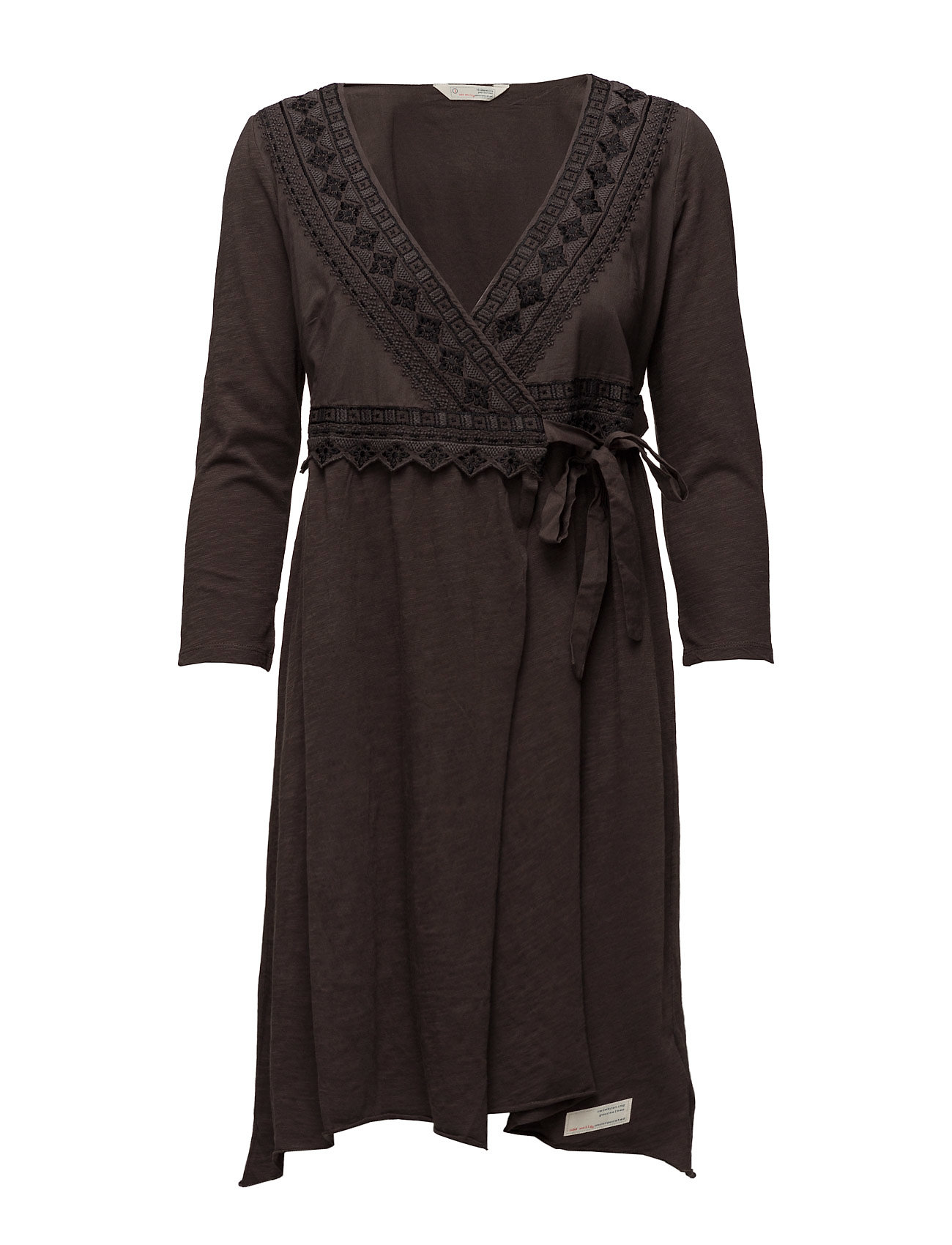 ODD MOLLY get-a-way l/s dress - BLACK LAVA