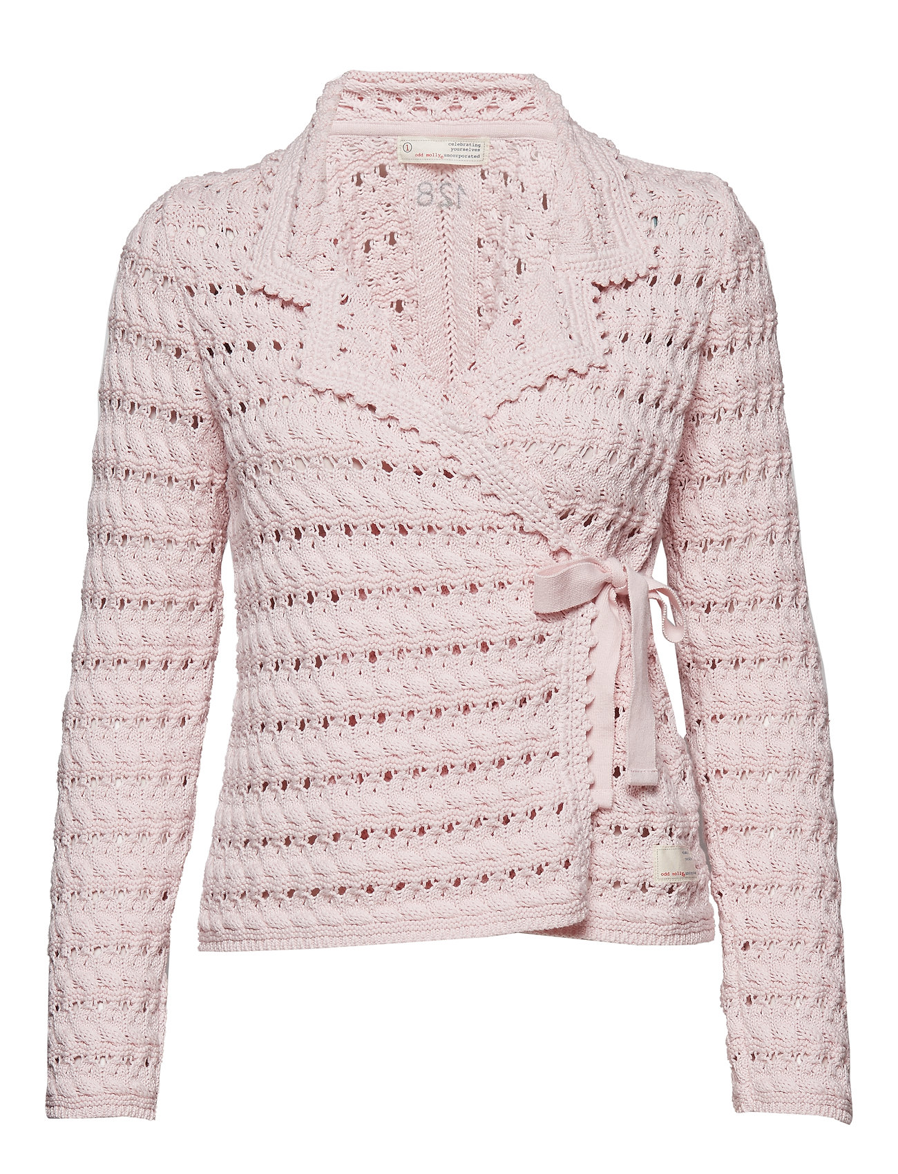ODD MOLLY symmetry moves cardigan - SOFT ROSE