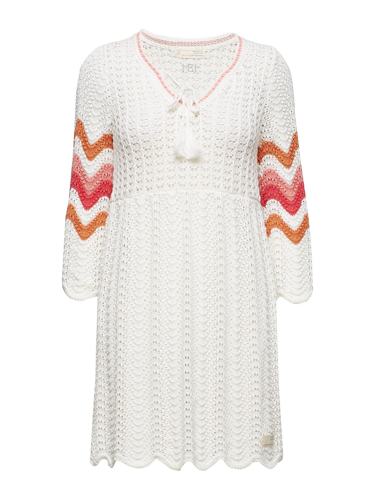 ODD MOLLY soul stripes dress - LIGHT CHALK