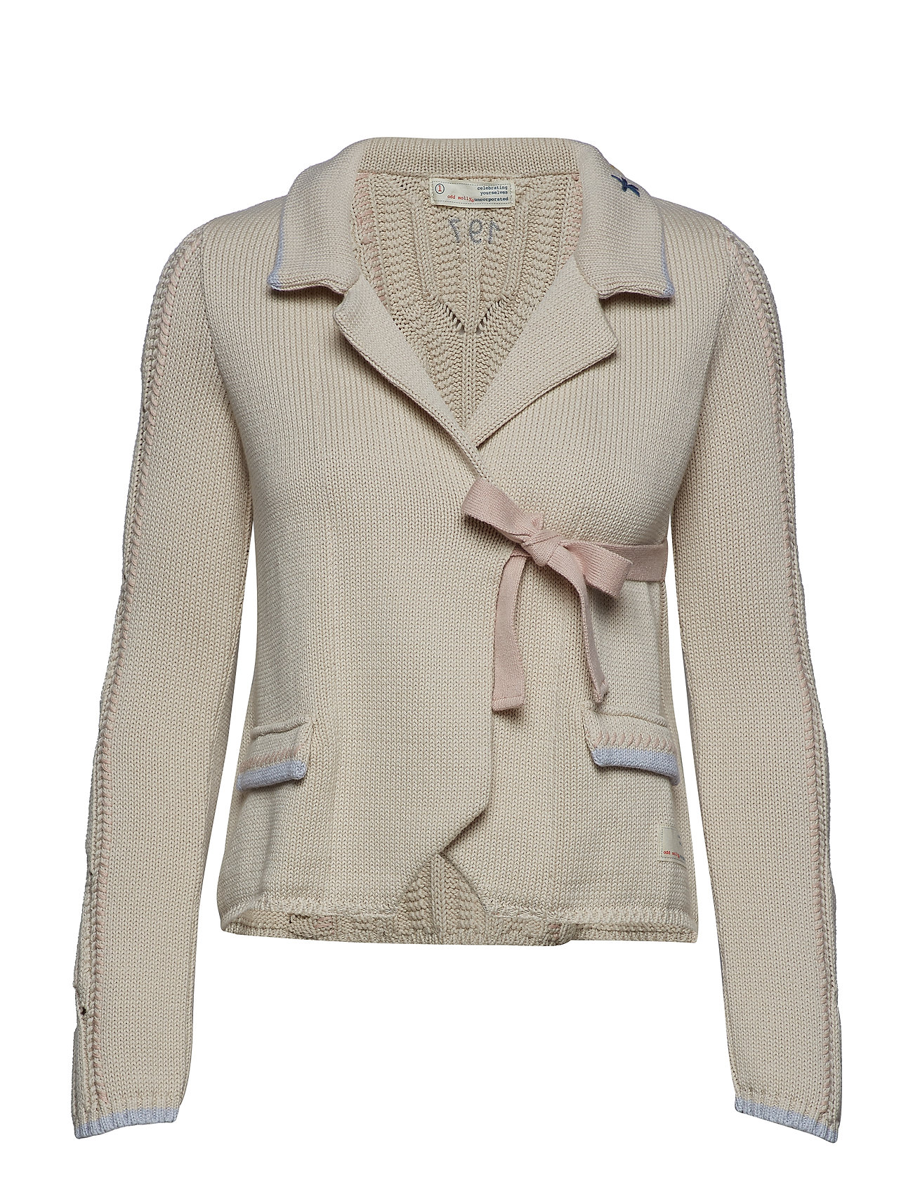 ODD MOLLY sweet distorsion cardigan - LIGHT PORCELAIN