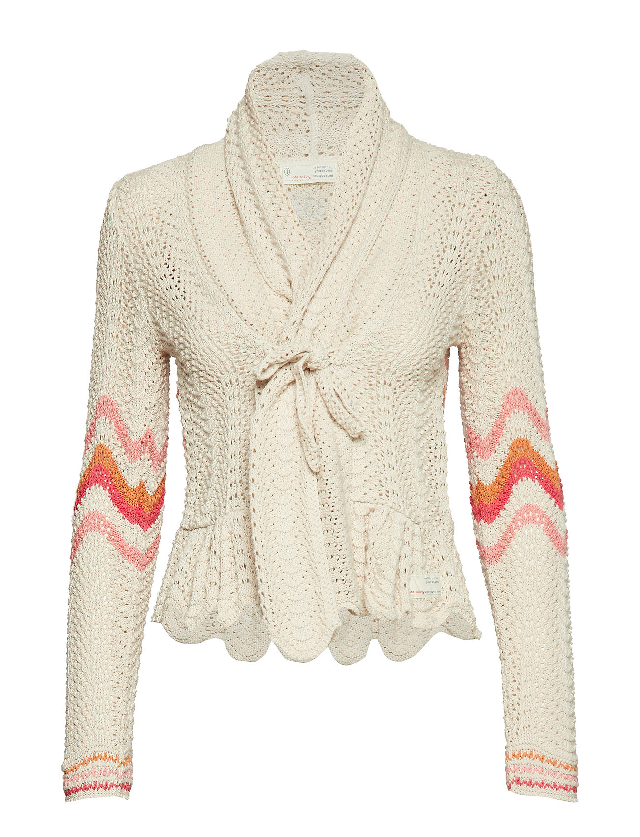 ODD MOLLY can-can cardigan - LIGHT PORCELAIN