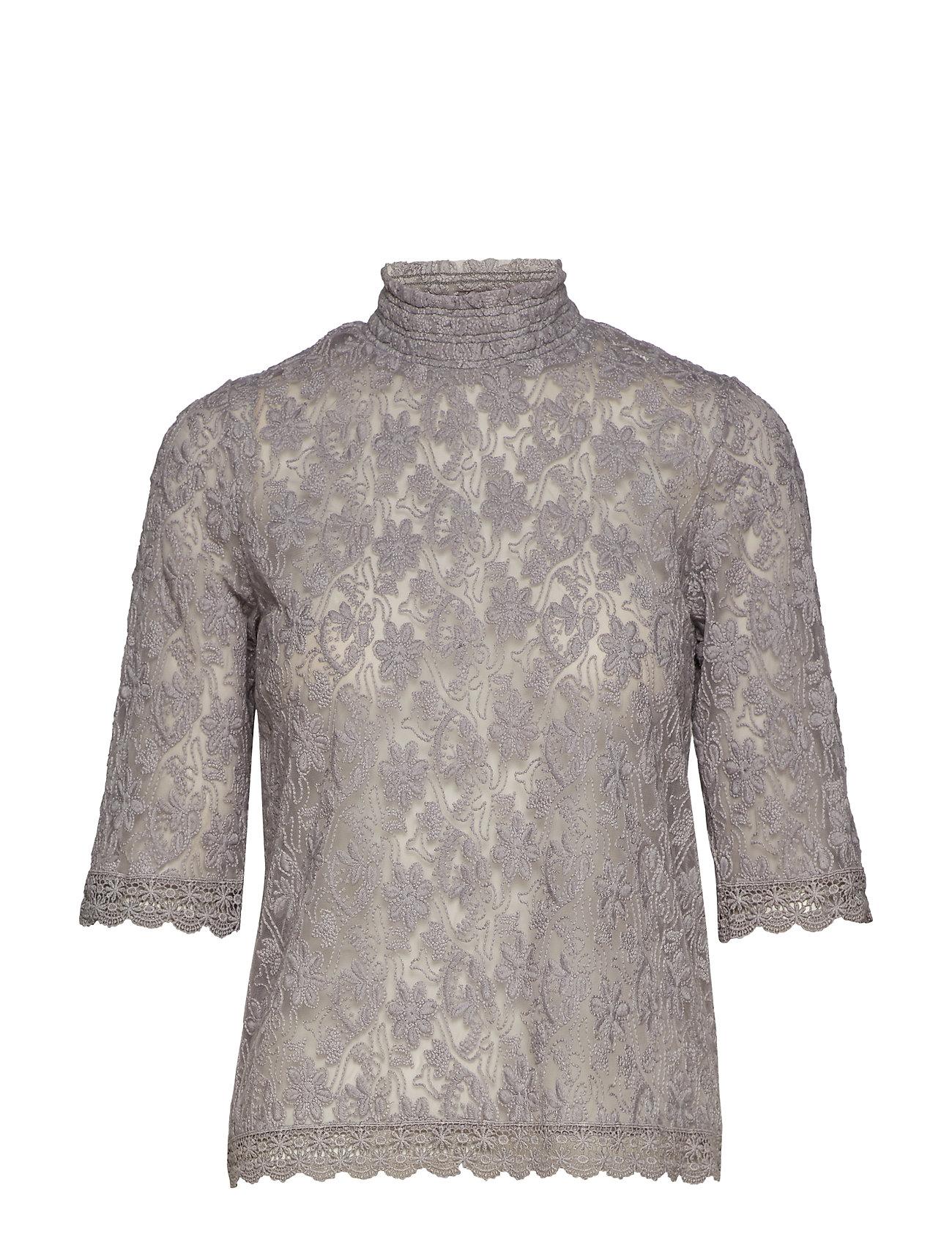 ODD MOLLY sway high blouse - MID GREY