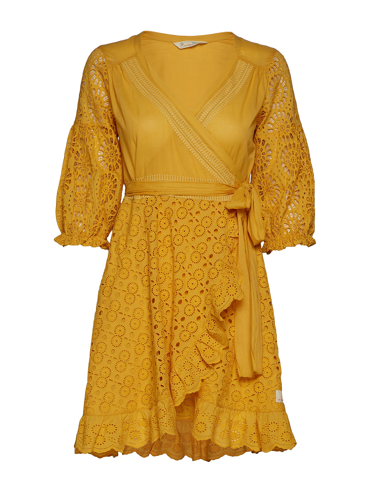 ODD MOLLY two-step flow dress - OCHRE