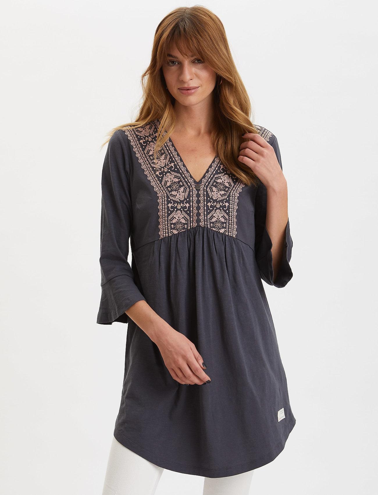 ODD MOLLY - Curious Dress - korte kjoler - asphalt