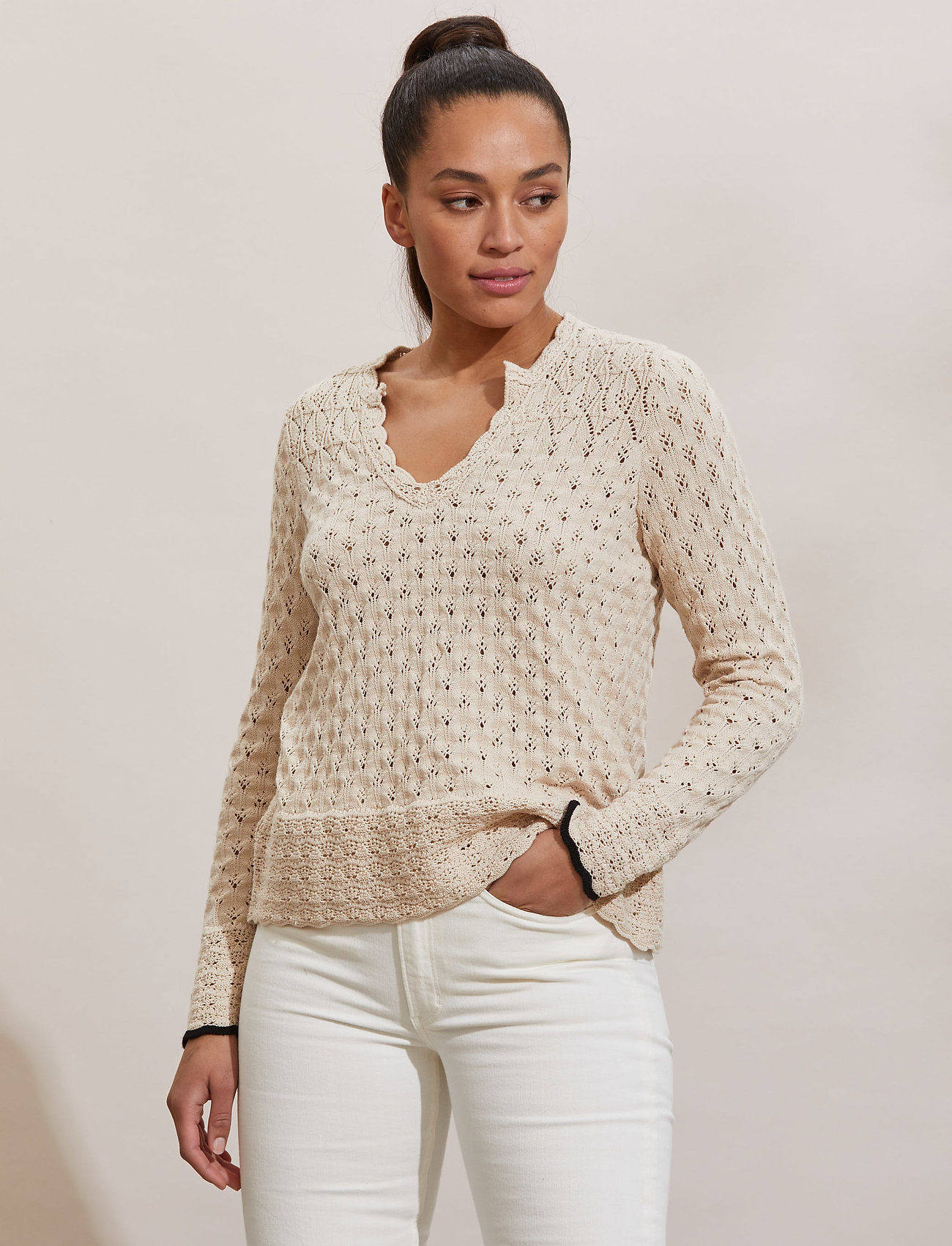ODD MOLLY - Meryl Sweater - trøjer - light porcelain - 0