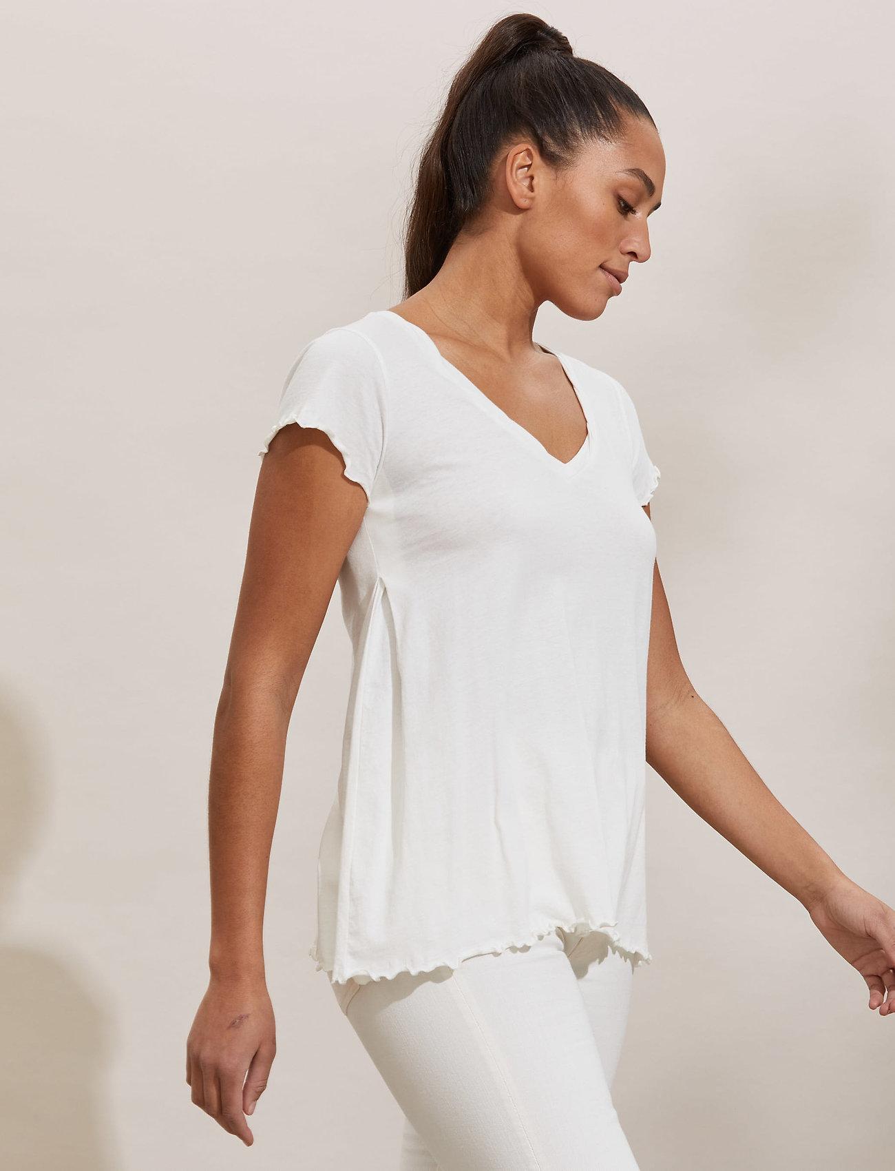 ODD MOLLY - Carole Top - t-shirts - light chalk - 0