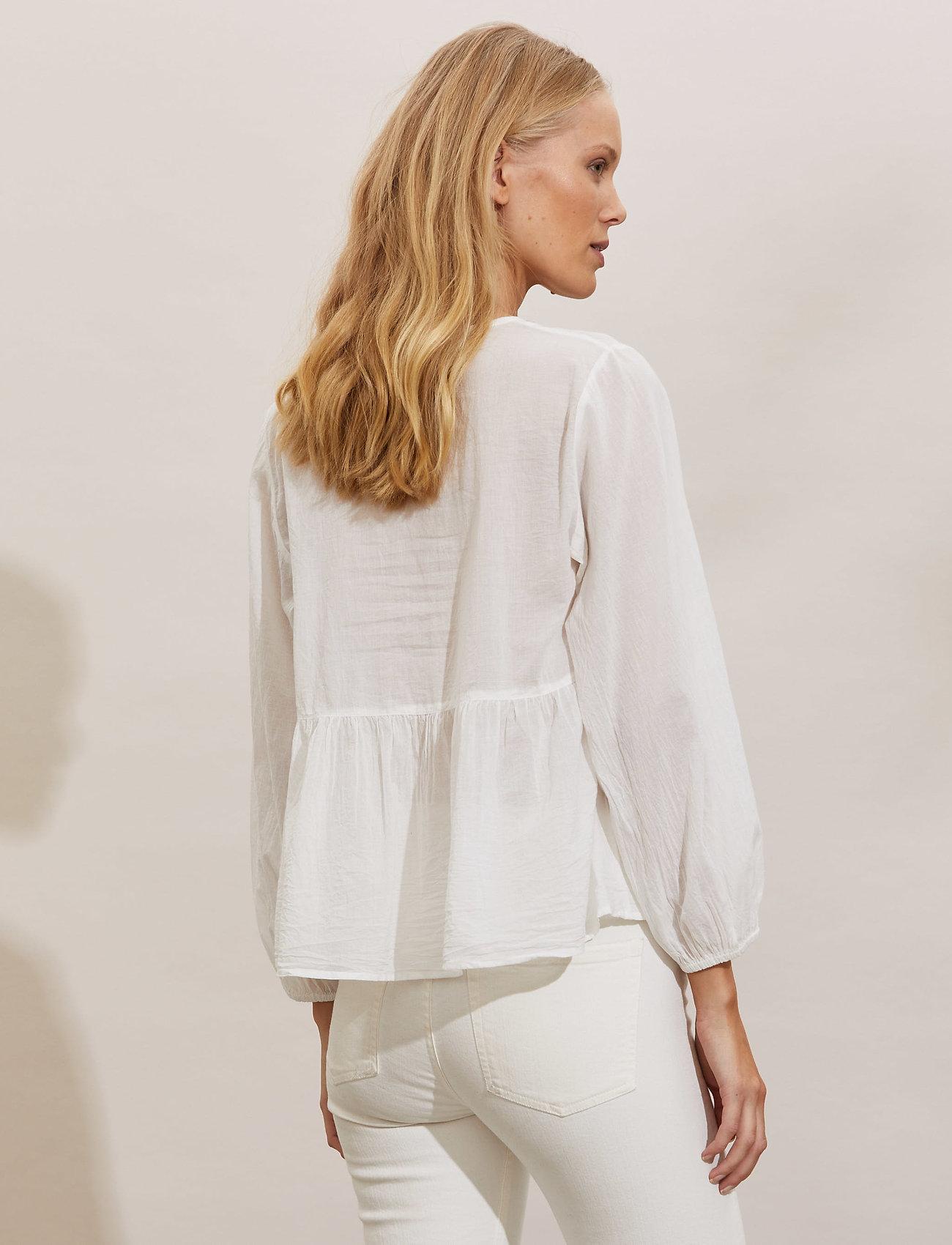 ODD MOLLY - Kayla Blouse - long sleeved blouses - light chalk - 3