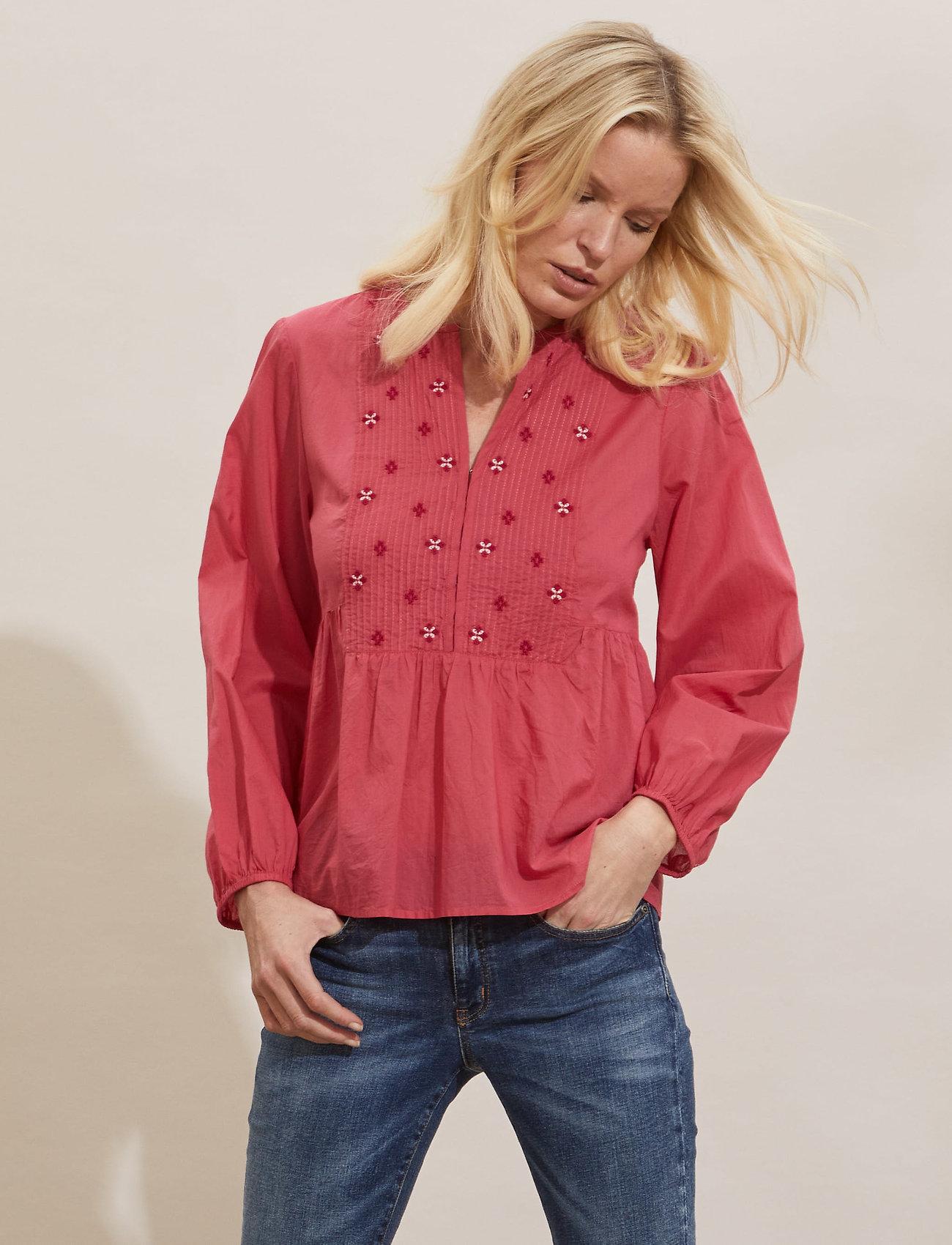 ODD MOLLY - Kayla Blouse - langærmede bluser - pink fudge - 0
