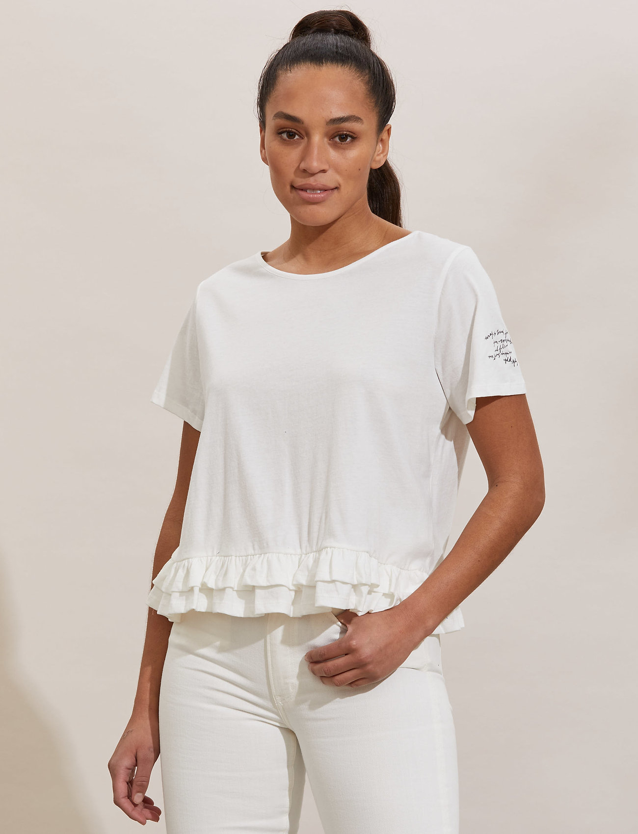 ODD MOLLY - Sally Top - t-shirts - light chalk - 0