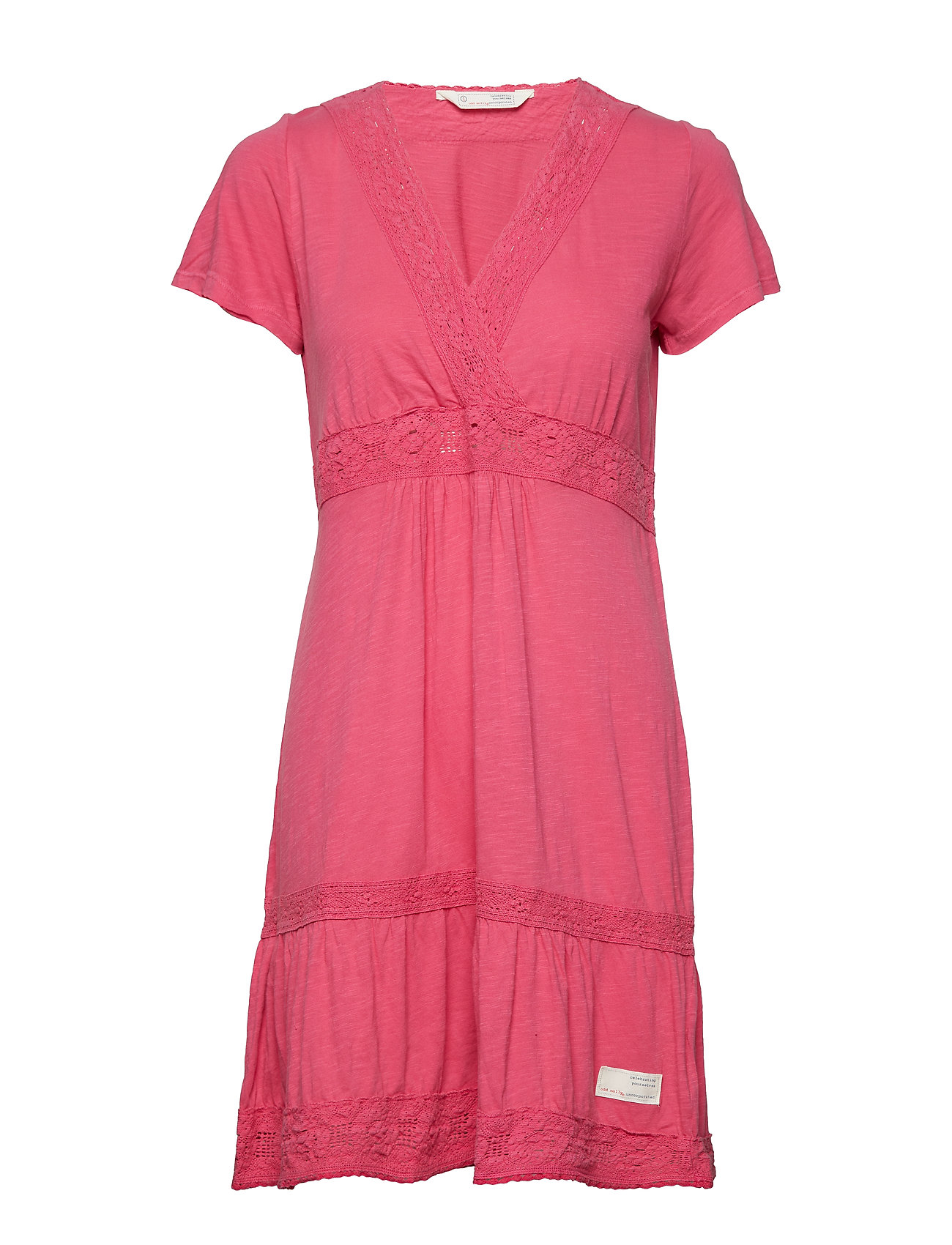 ODD MOLLY step over dress - DUSTY ROSE