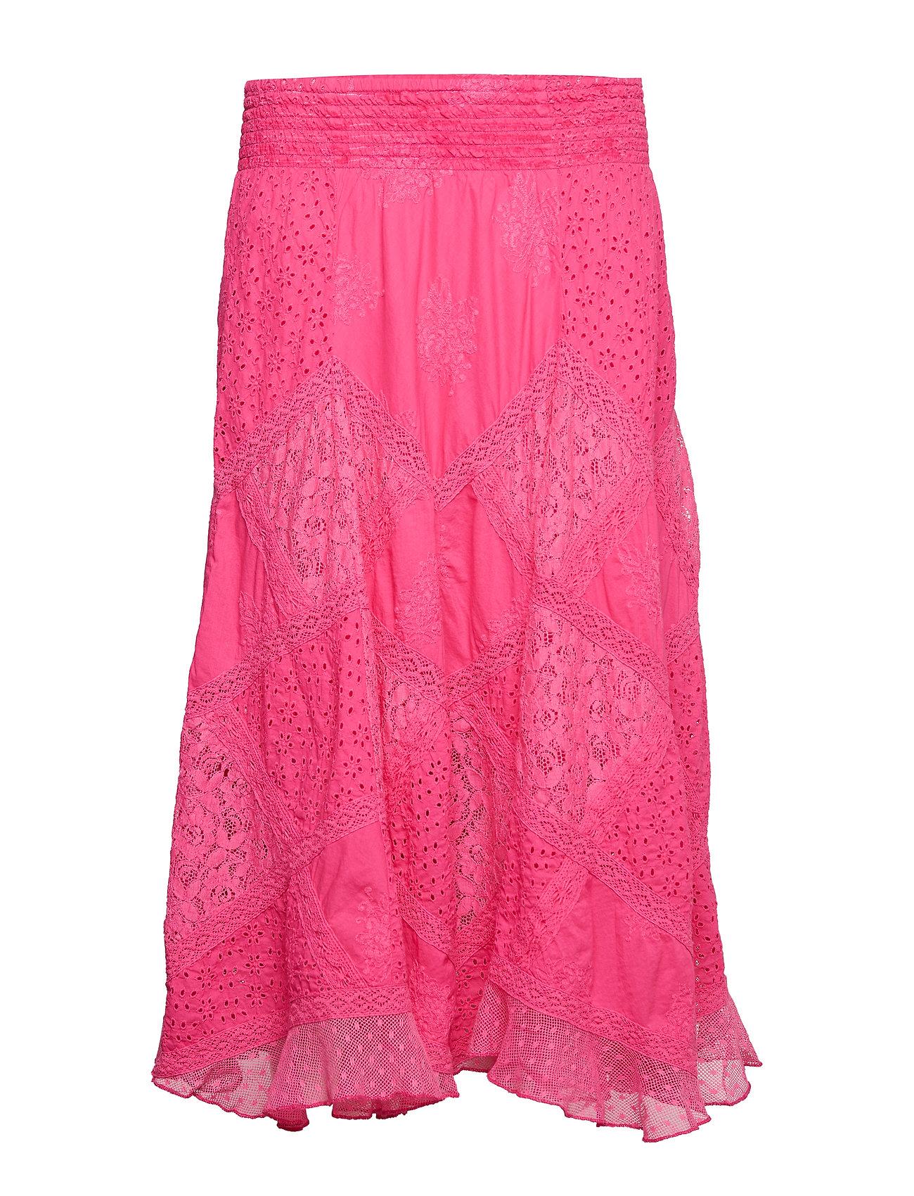 ODD MOLLY bell formation skirt - AZALEA PINK