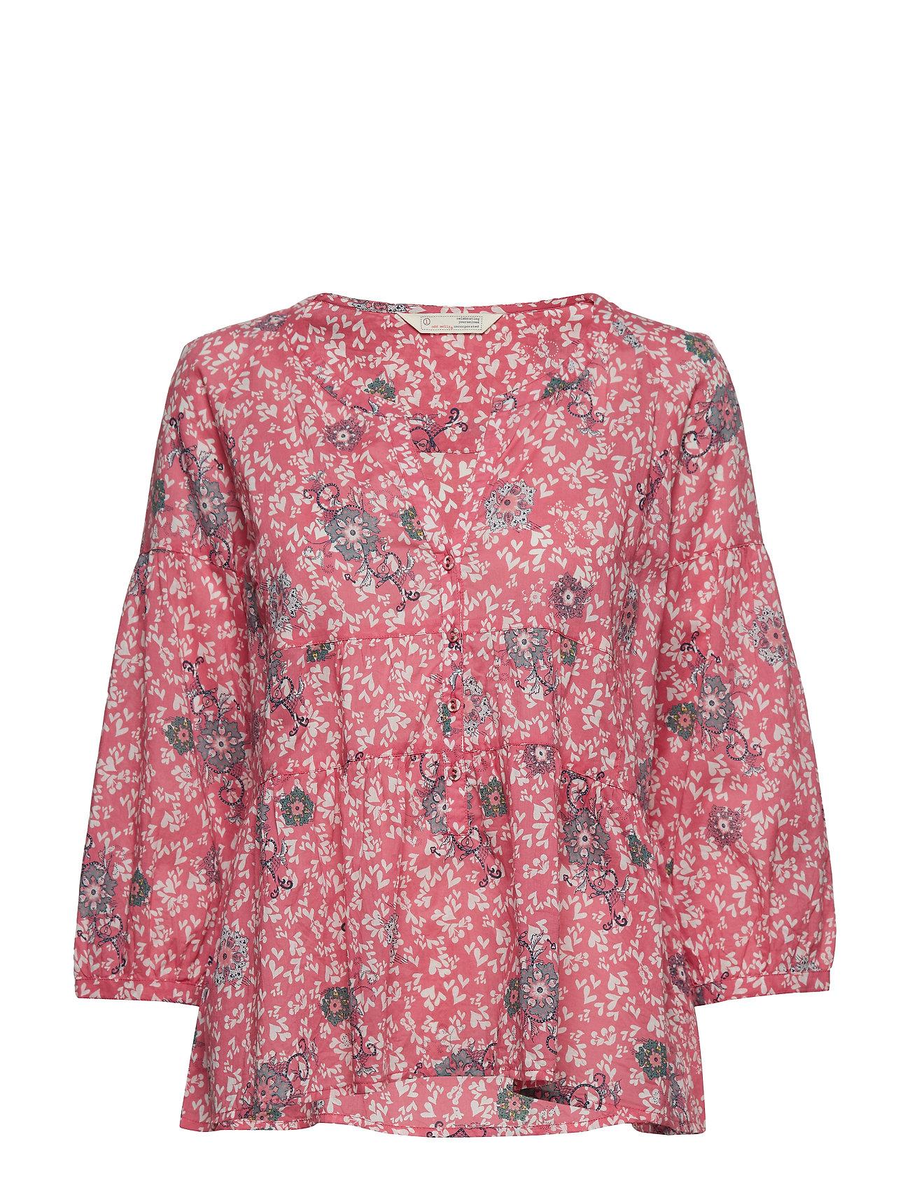 ODD MOLLY lush shake blouse - BLUSH PINK