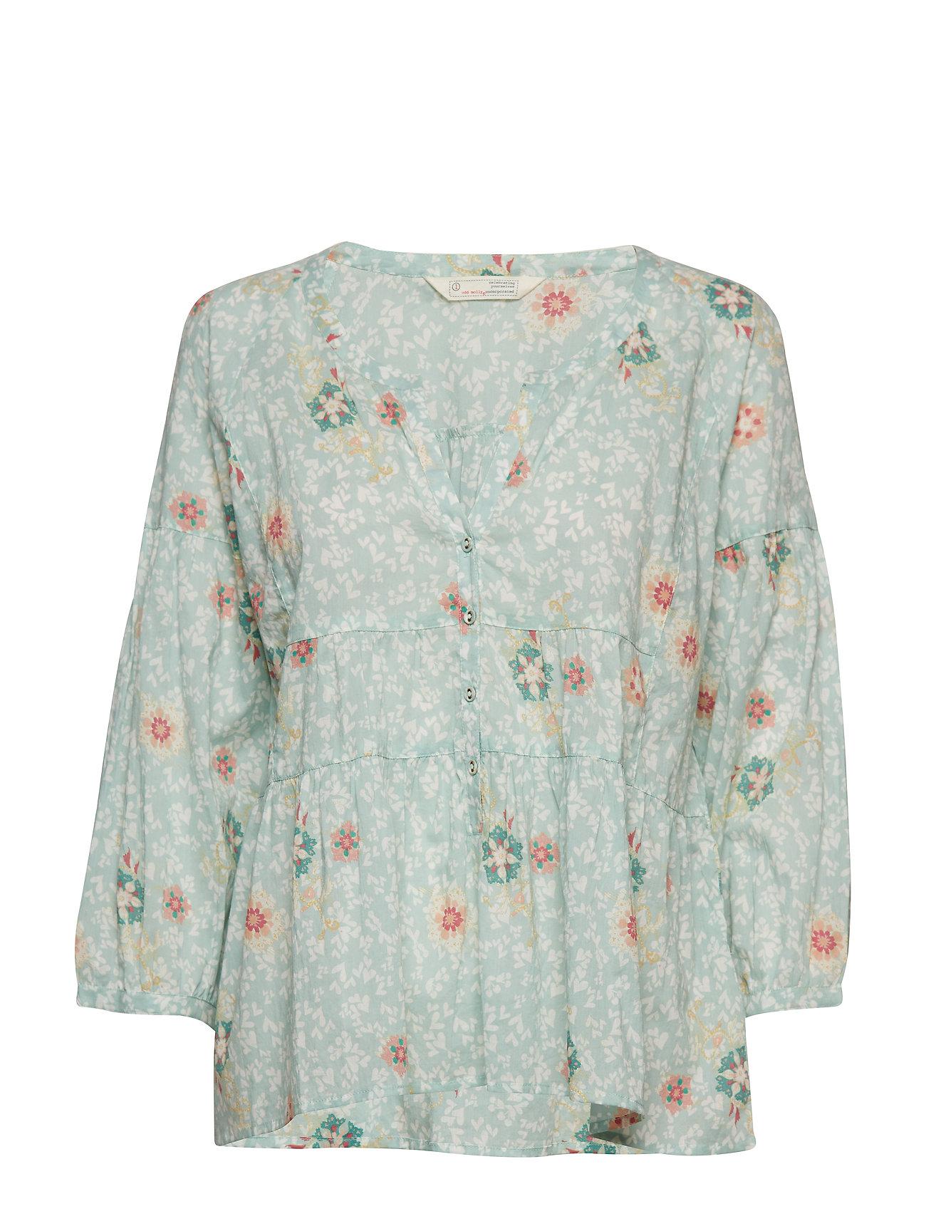 ODD MOLLY lush shake blouse - PISTACCIO