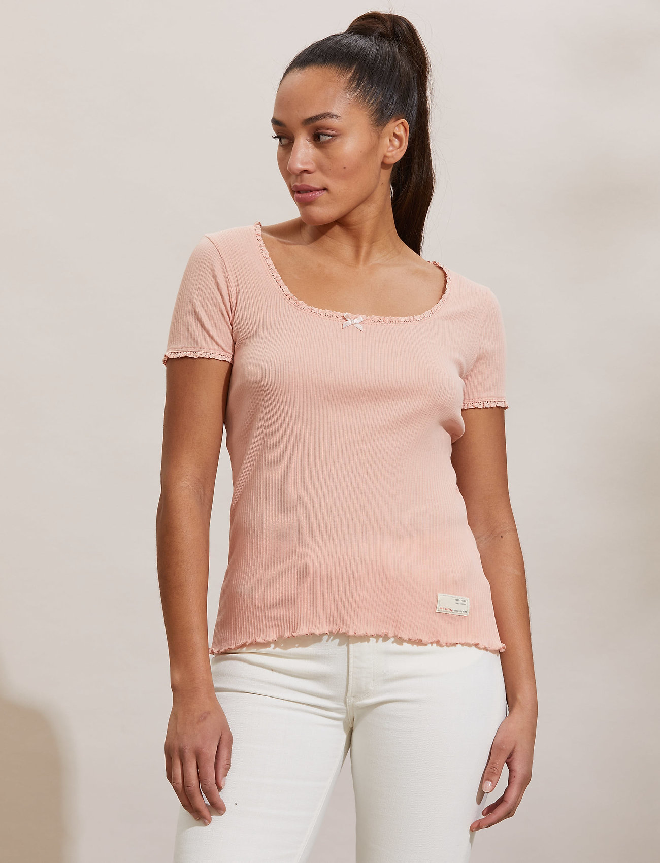 ODD MOLLY - Magda Top - t-shirts - pink conch - 0