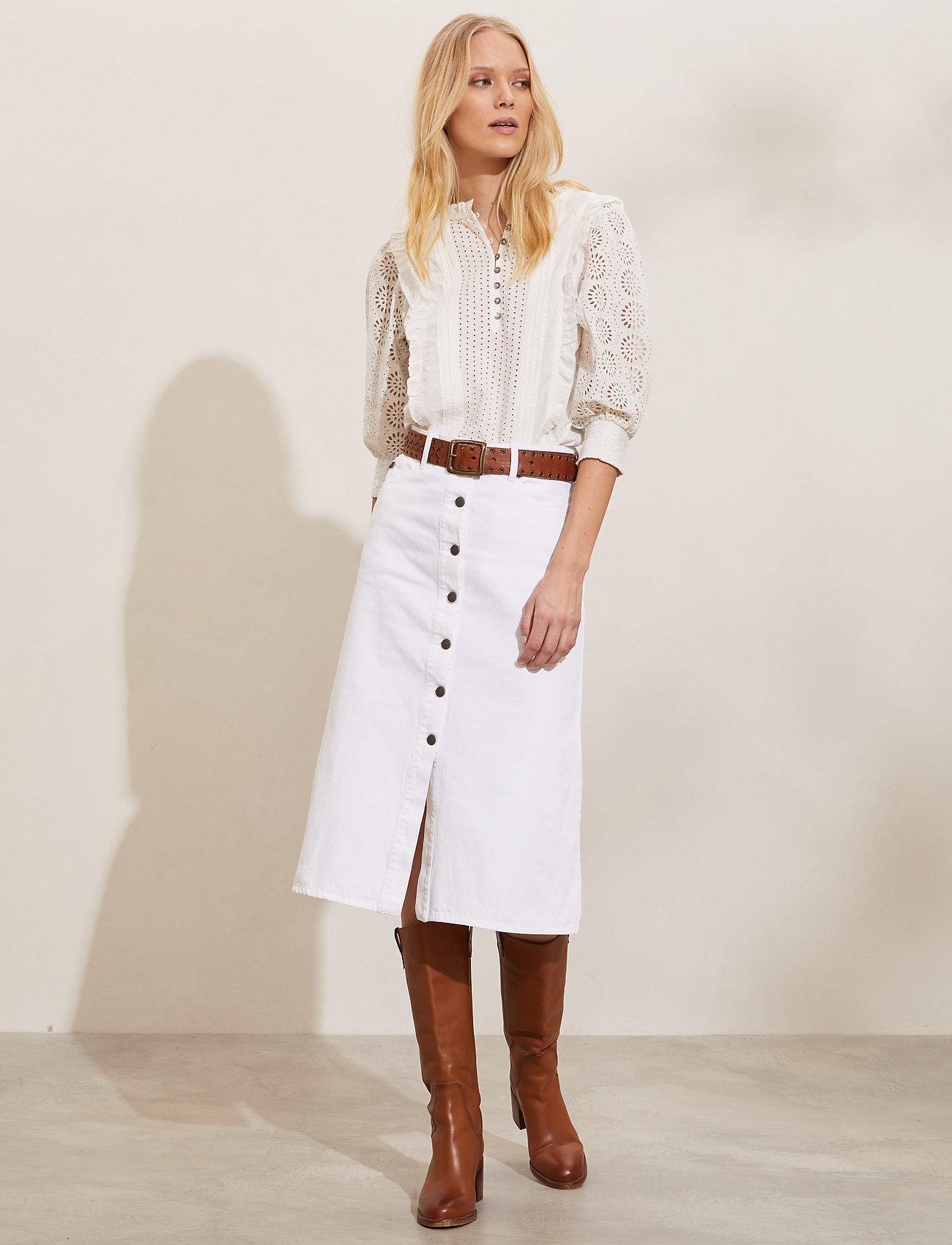 ODD MOLLY - Ivy Twill Skirt - denimnederdele - offwhite - 0