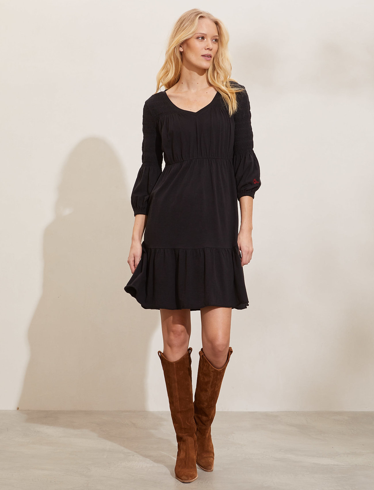 ODD MOLLY - Gloria Dress - sommerkjoler - almost black - 0