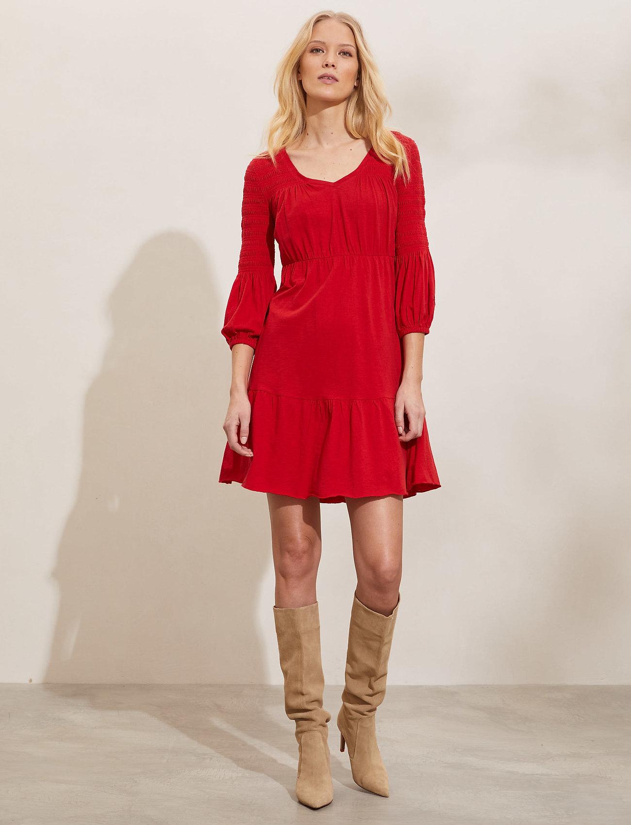 ODD MOLLY - Gloria Dress - hverdagskjoler - cherry red - 0