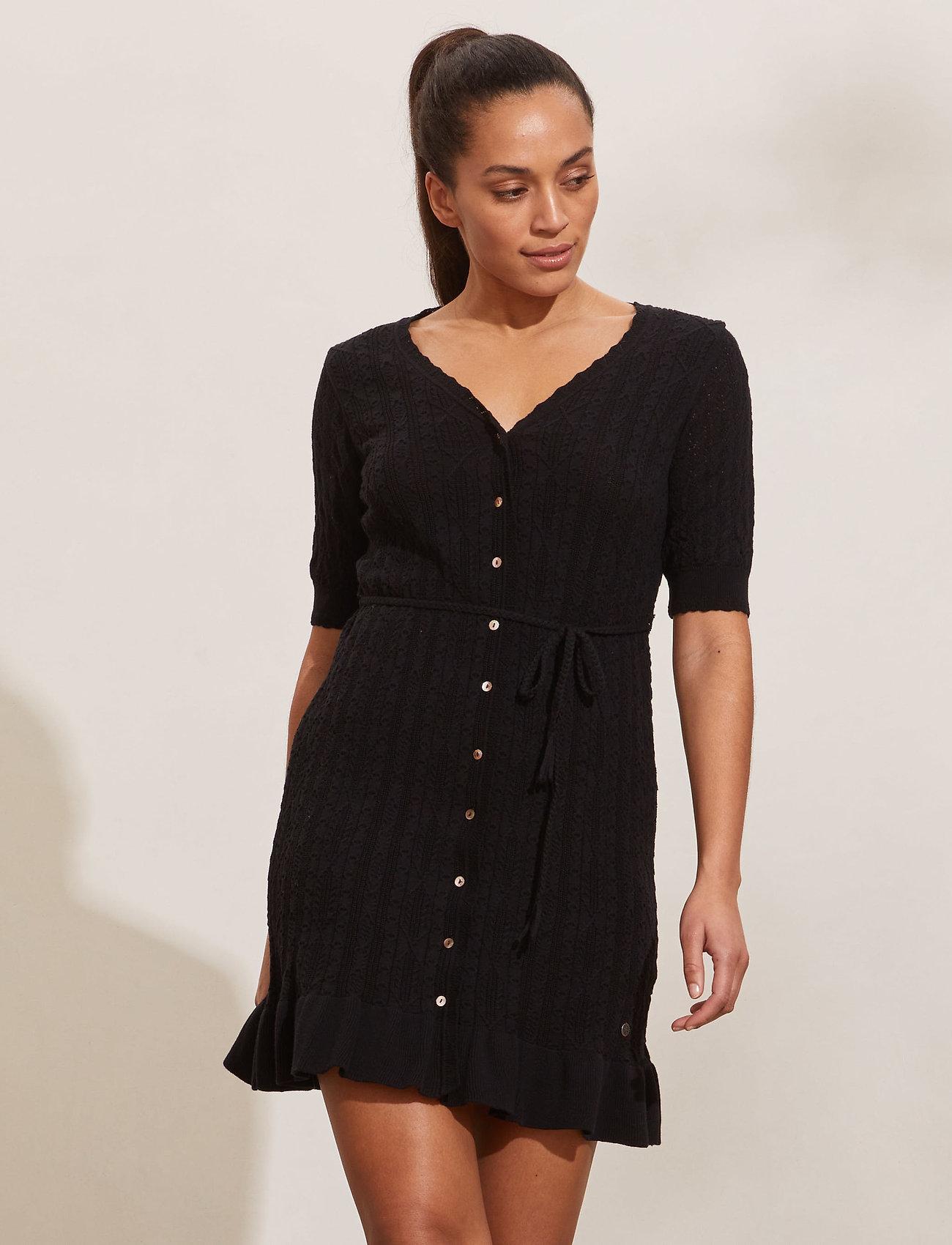ODD MOLLY - Laura Dress - sommerkjoler - black - 0
