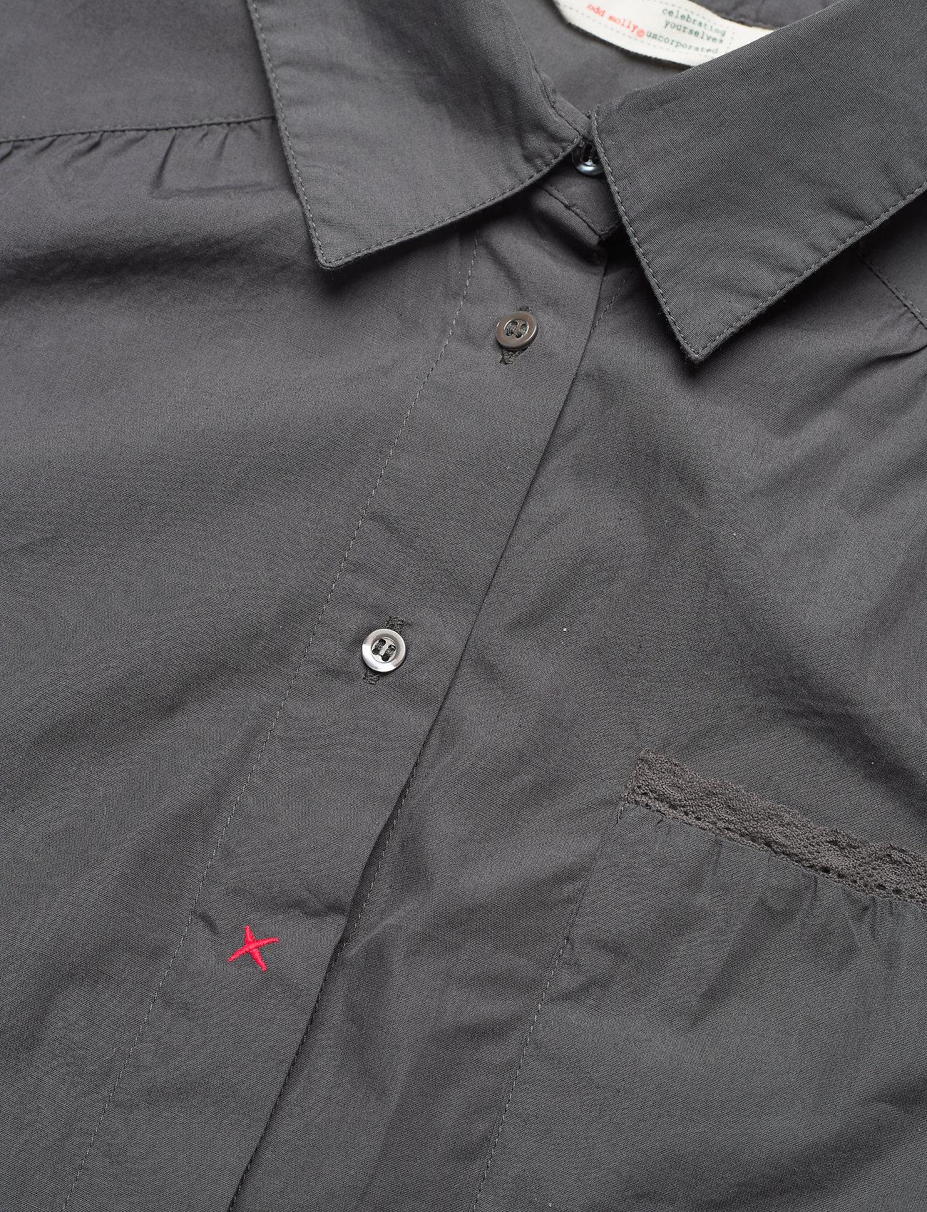 ODD MOLLY - Willow Shirt - long-sleeved shirts - asphalt - 4