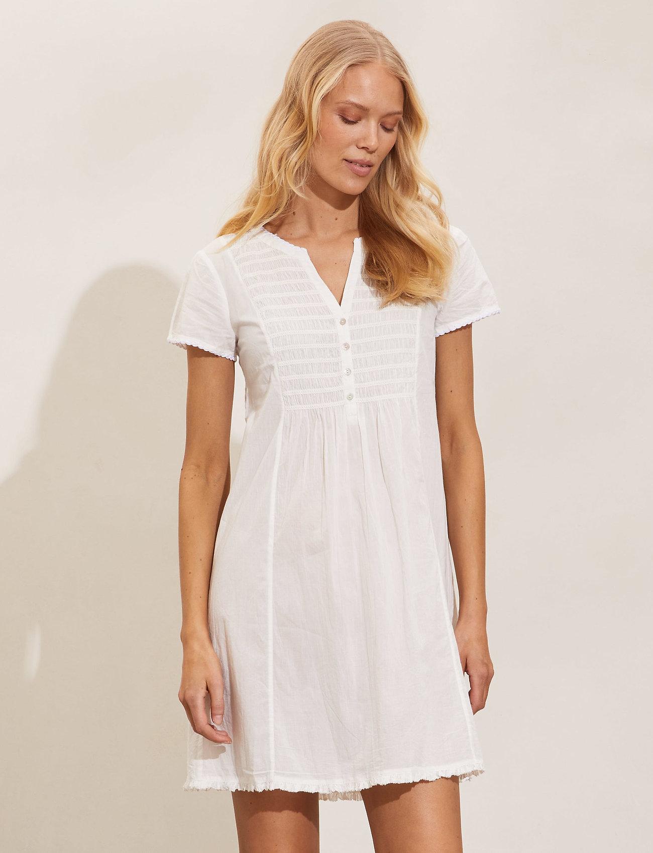ODD MOLLY - Myrtle Short Dress - sommerkjoler - light chalk - 0