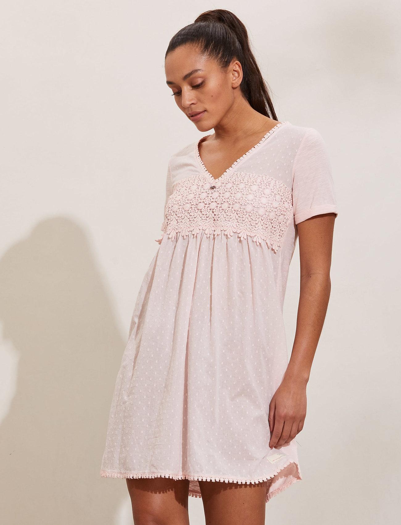 ODD MOLLY - Finest Embroidery Dress - sommerkjoler - pink elder - 0