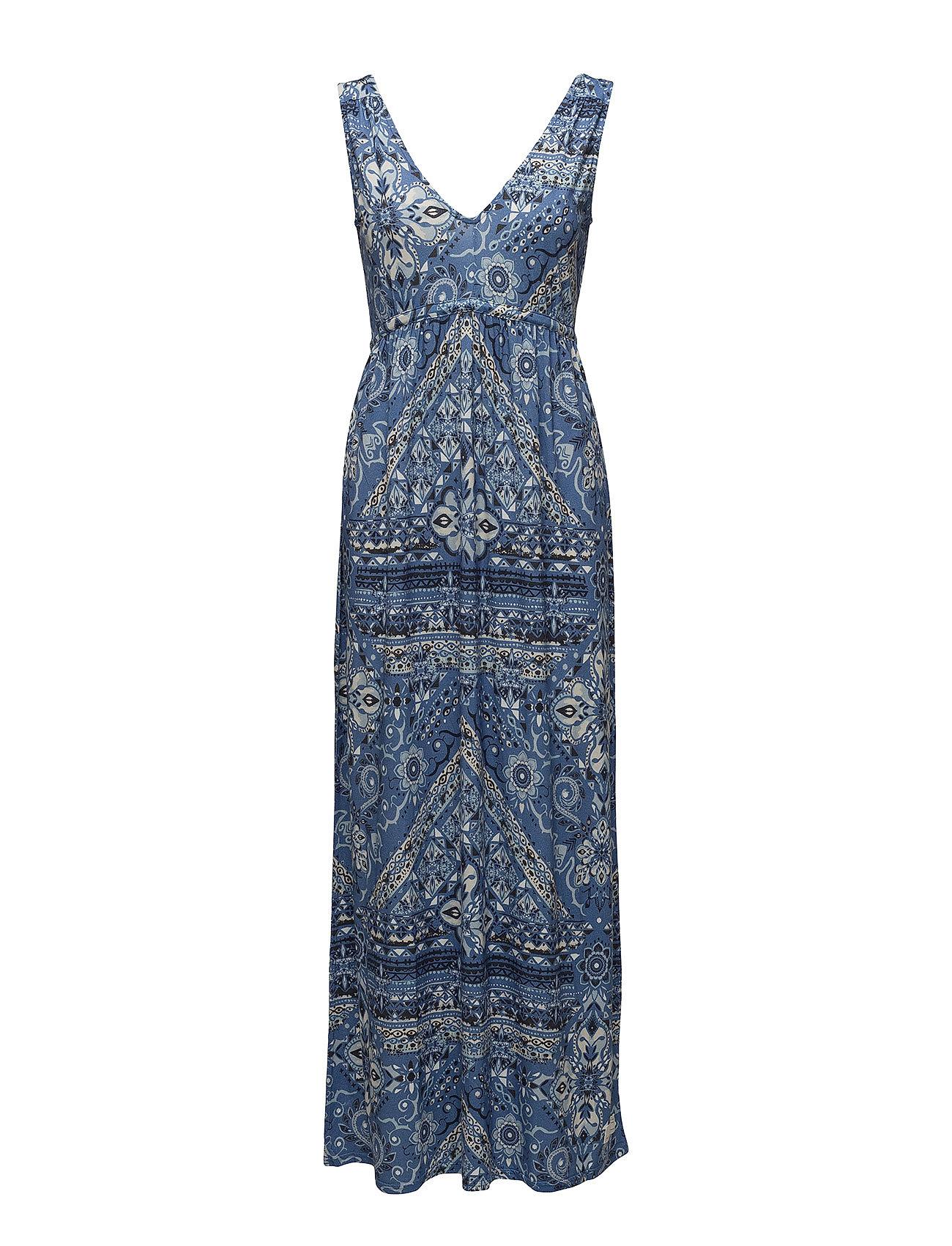 ODD MOLLY playful long dress - VINTAGE BLUE