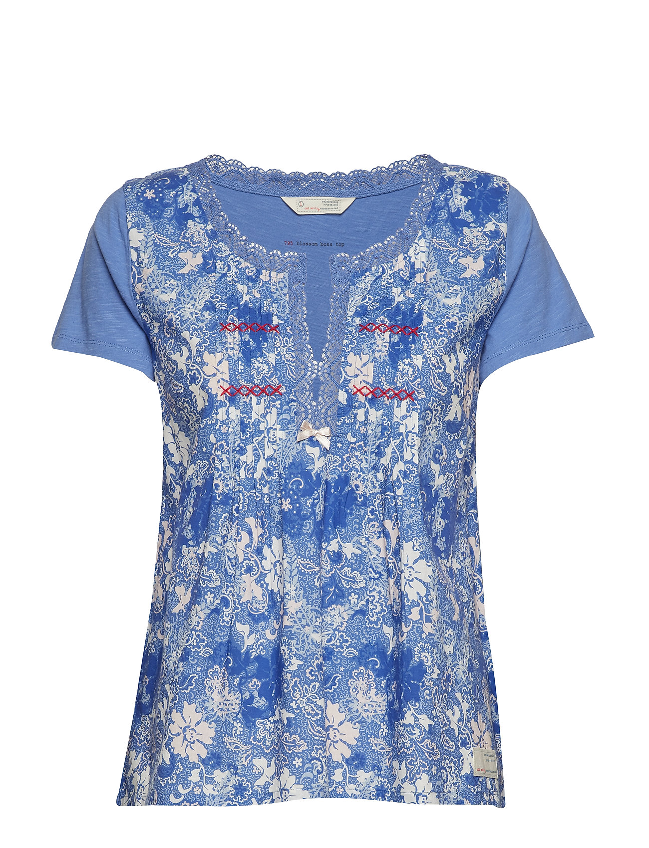 ODD MOLLY blossom boss top - SUMMER BLUE