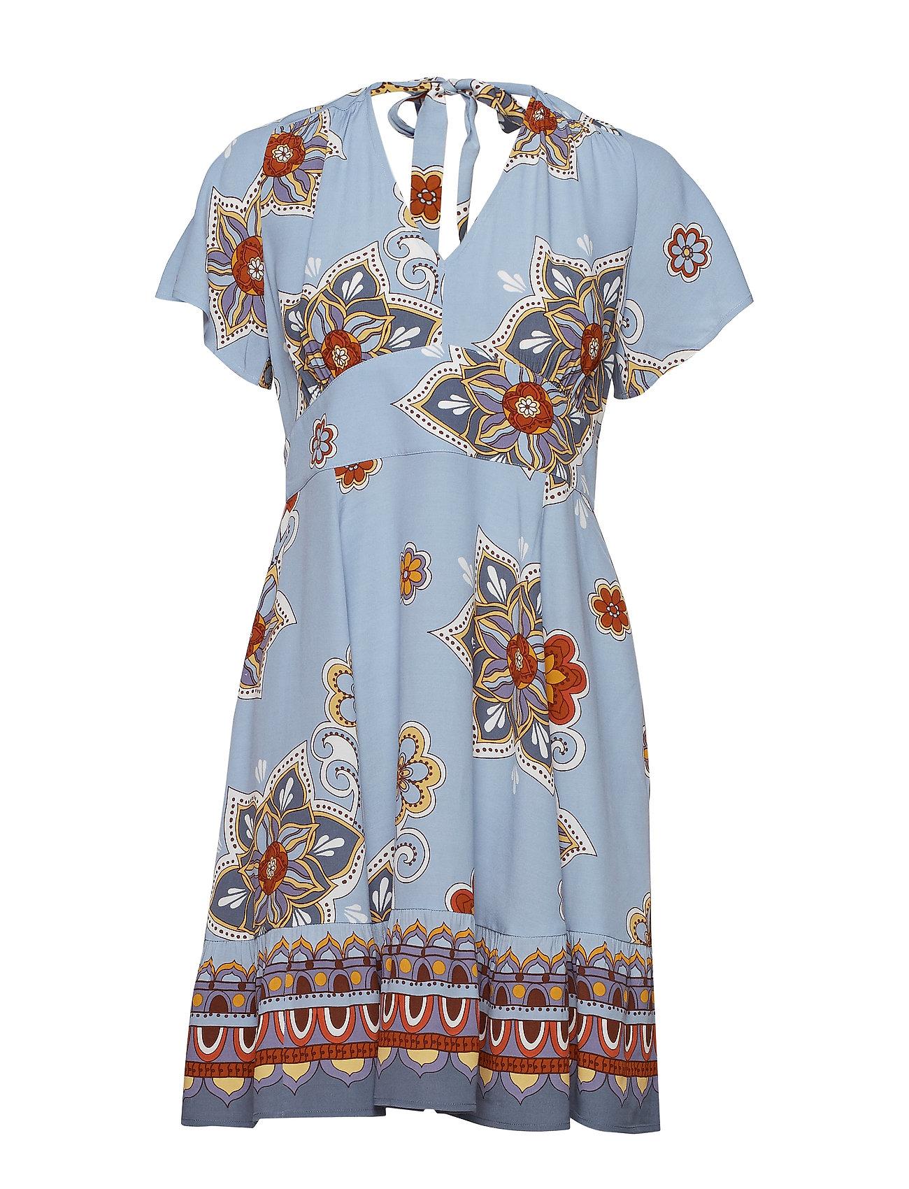 ODD MOLLY cruising around dress - DOVE BLUE