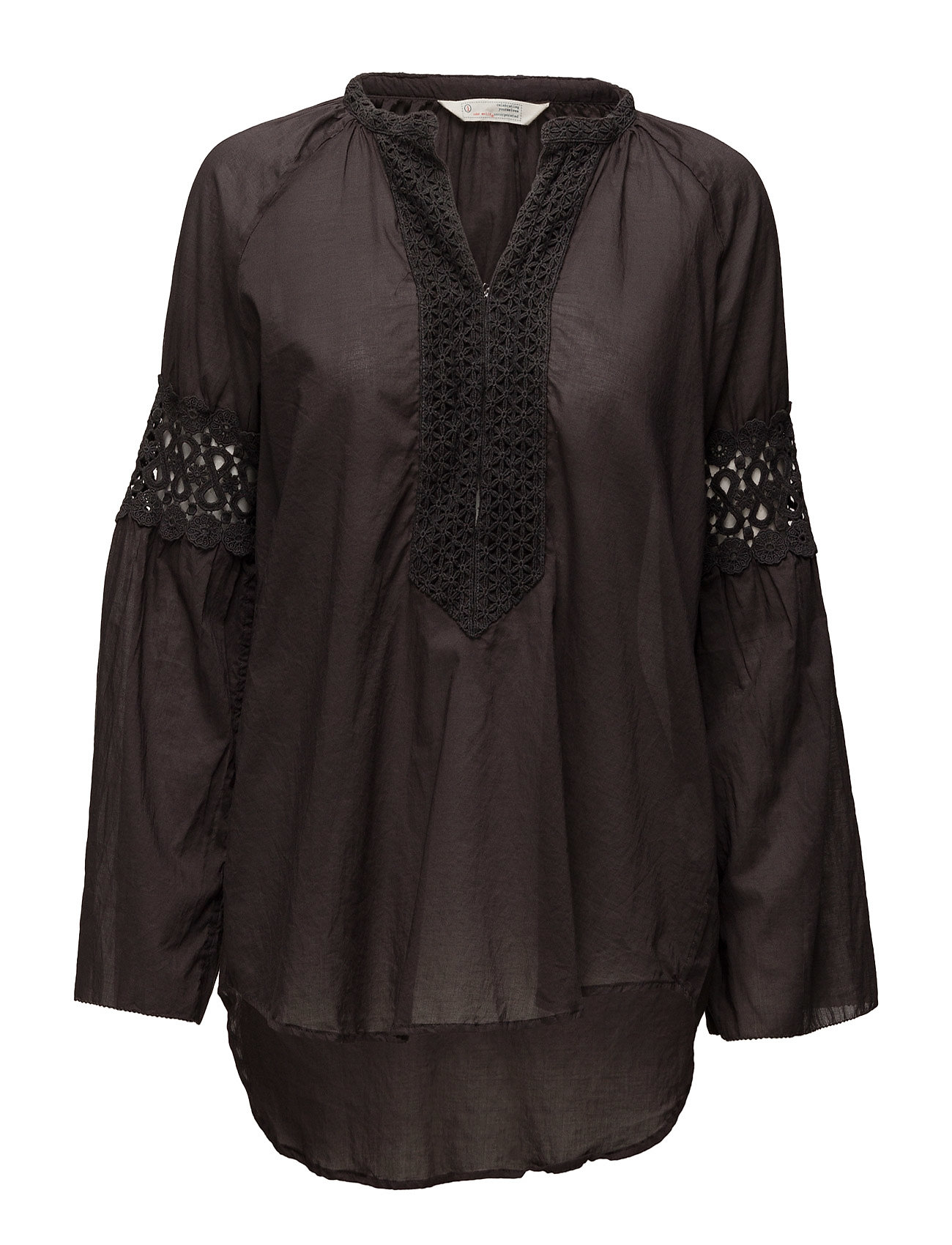 ODD MOLLY atmosphere l/s blouse - ALMOST BLACK