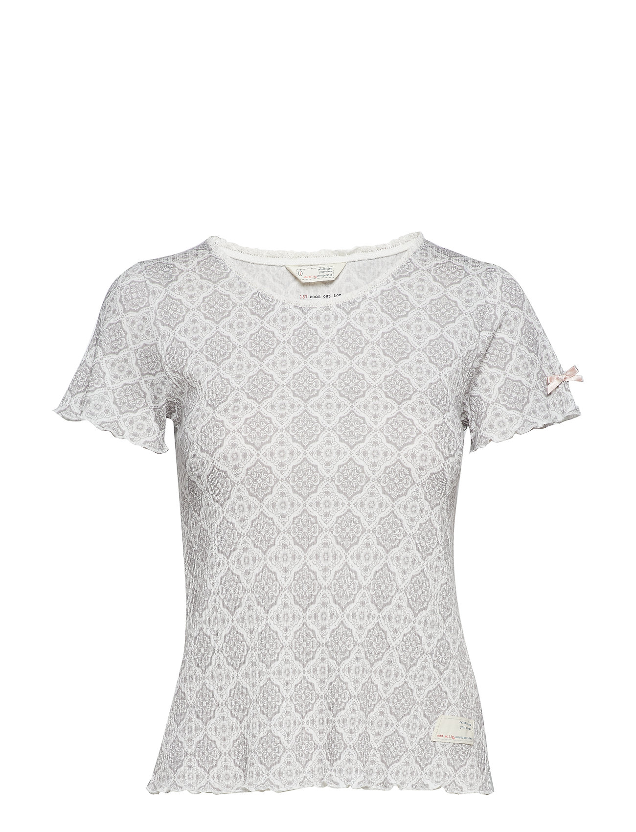 ODD MOLLY zoom out top - MID GREY