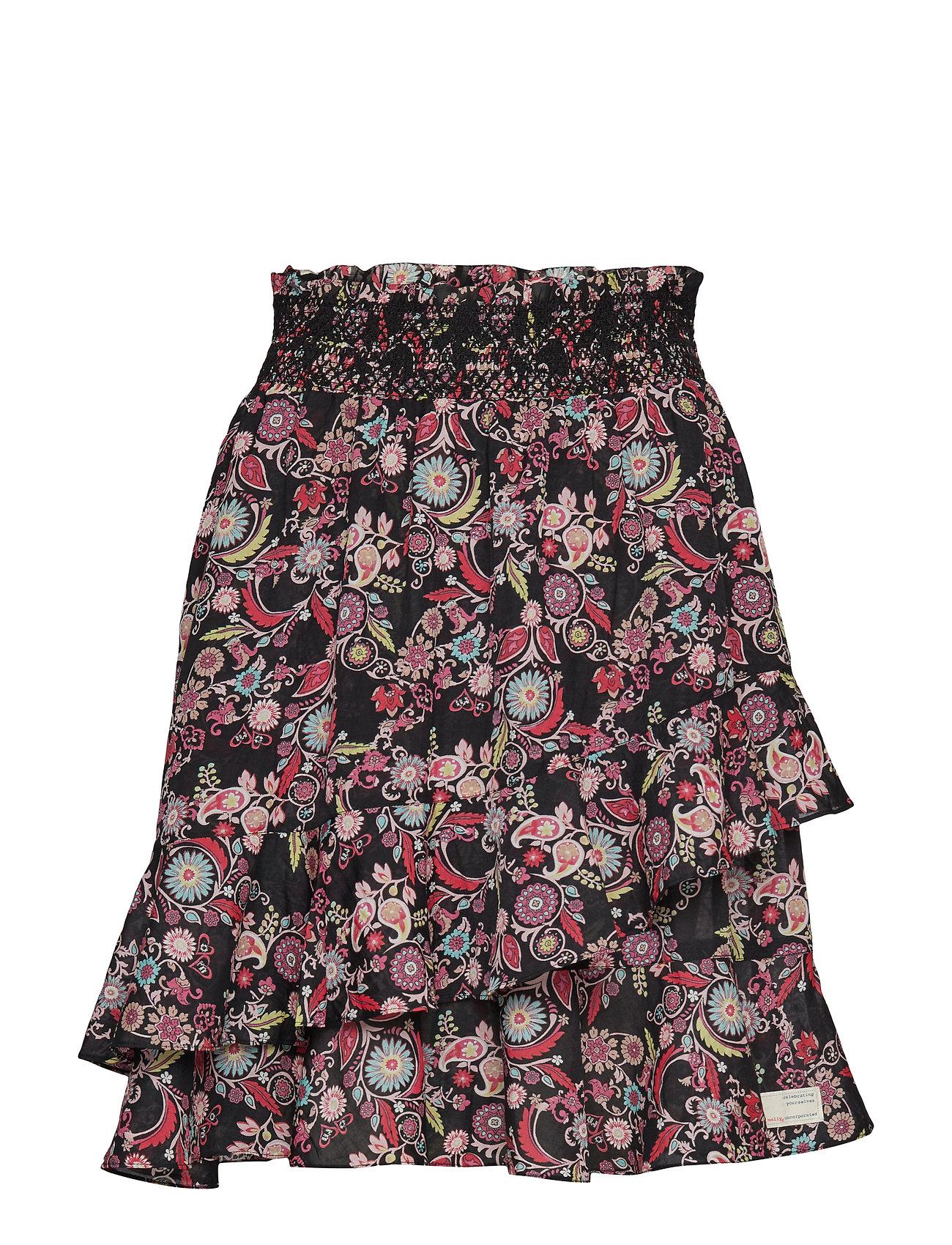 ODD MOLLY majestic skirt - BLACK MULTI