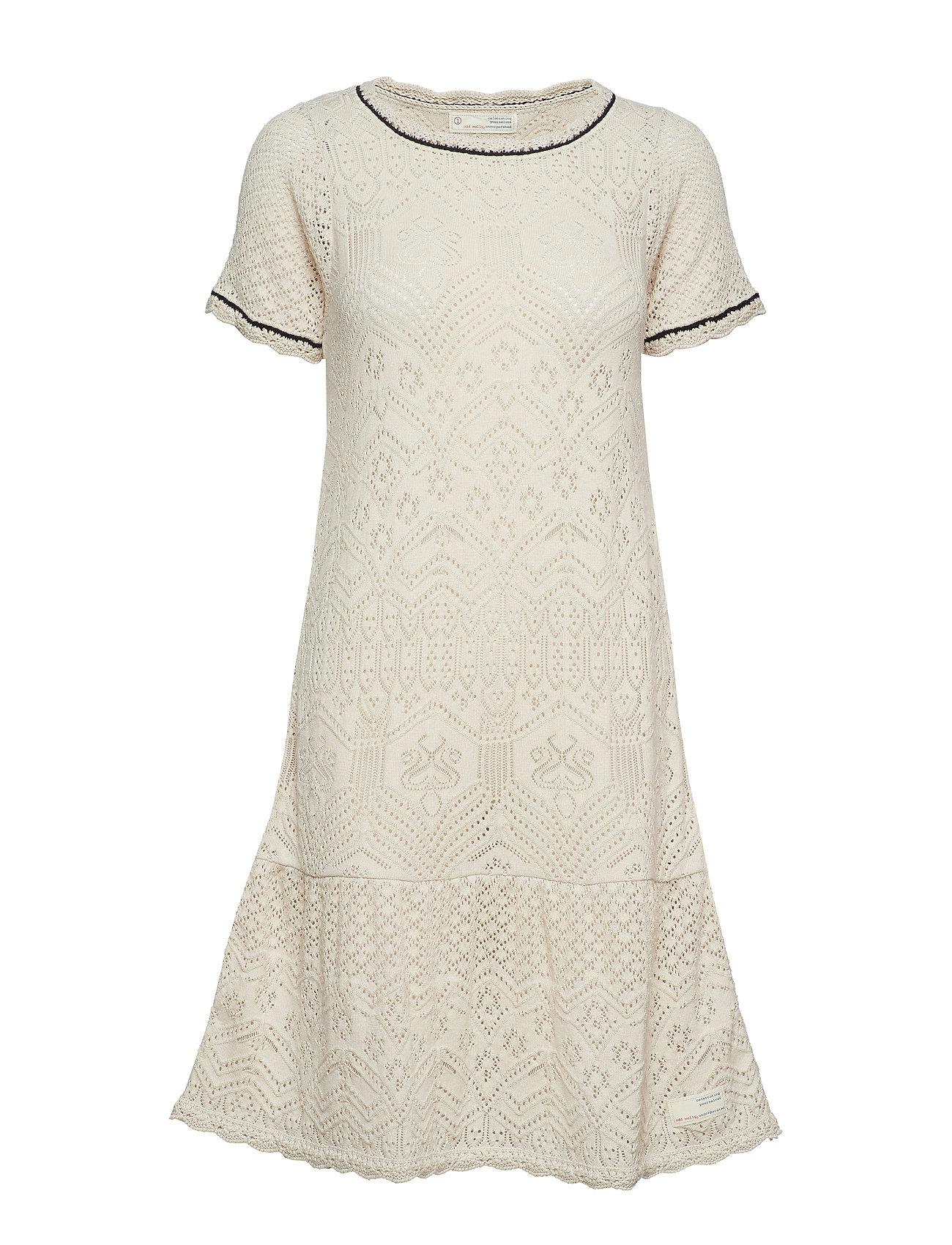 ODD MOLLY good gracious dress - LIGHT PORCELAIN