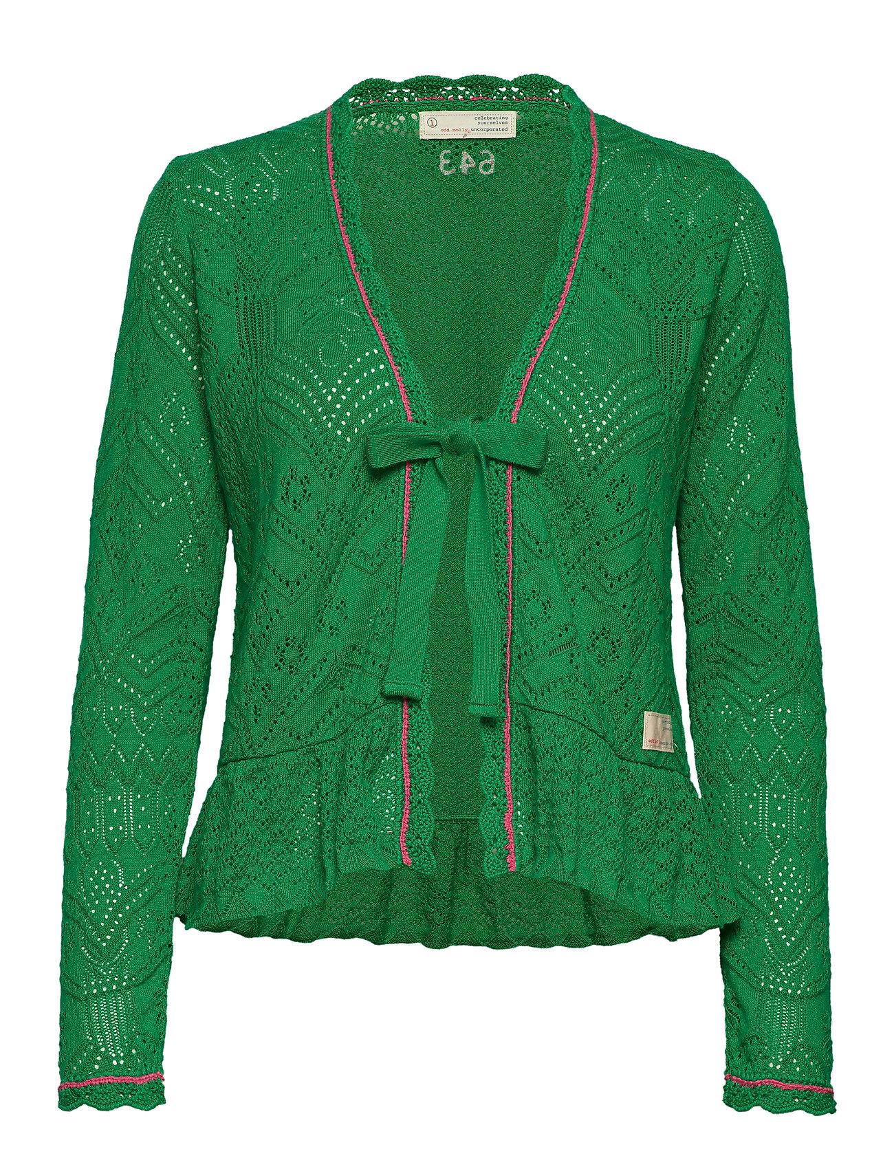 ODD MOLLY good gracious cardigan - GARDEN GREEN