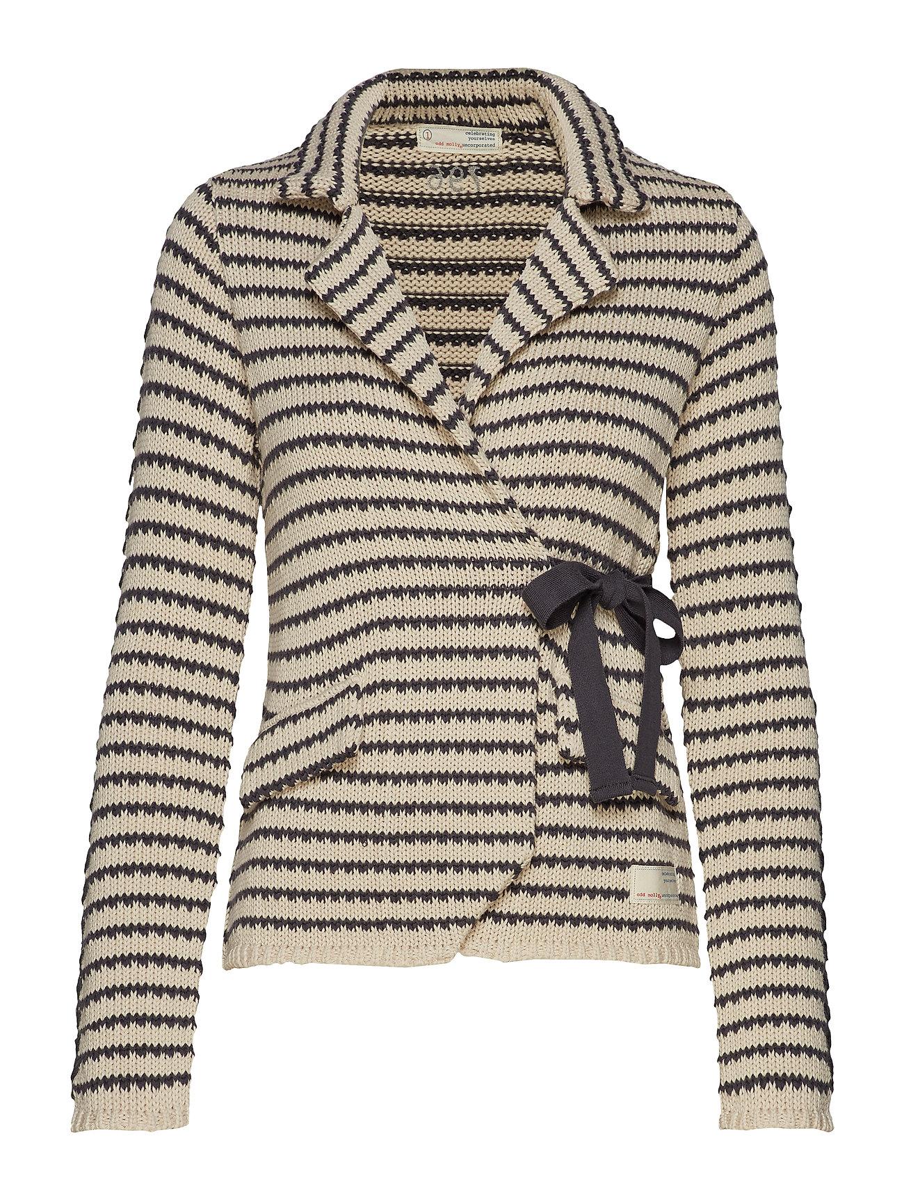 ODD MOLLY the knit jacket - LIGHT PORCELAIN